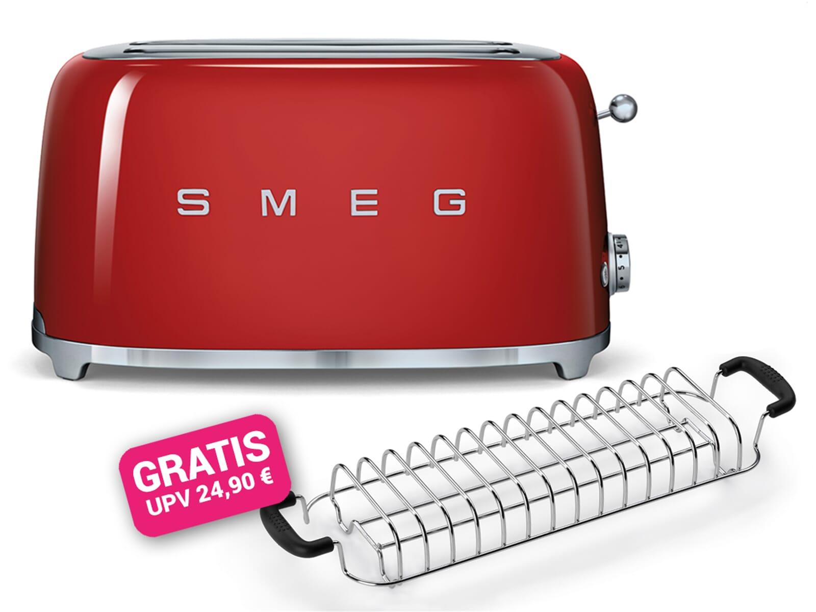 Smeg Kühlschrank Rot : Smeg tsf rdeu scheiben toaster rot inkl gratis brötchen