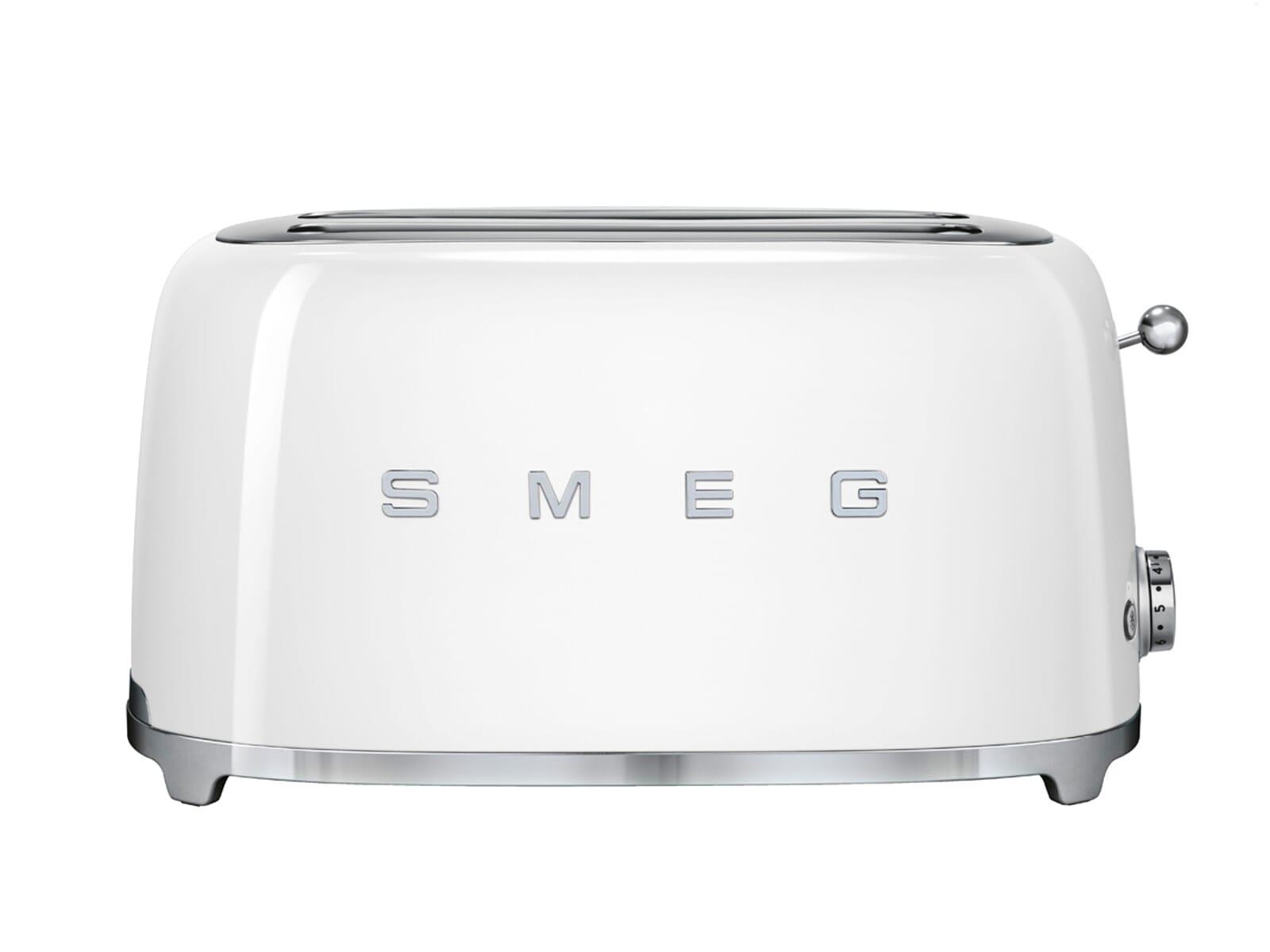 Smeg Kühlschrank Weiß Gebraucht : Smeg tsf wheu scheiben toaster weiß