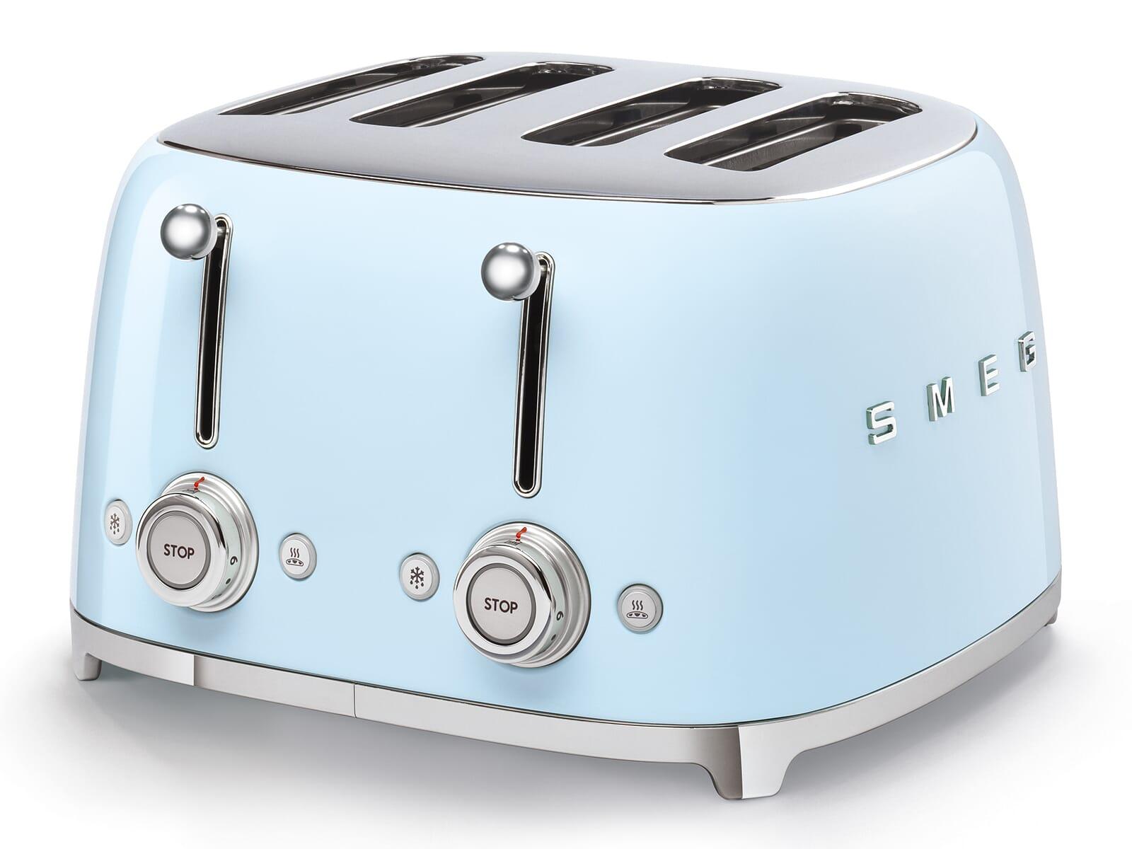 Smeg TSF03PBEU 4-Schlitz-Toaster Pastellblau