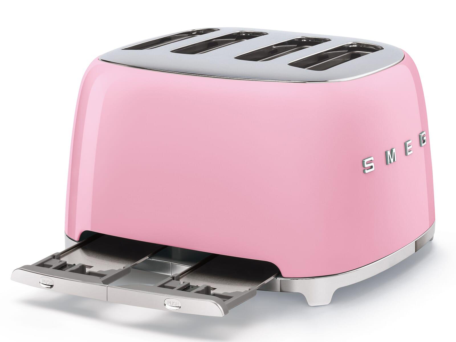 Smeg TSF03PKEU 4-Schlitz-Toaster Cadillac Pink
