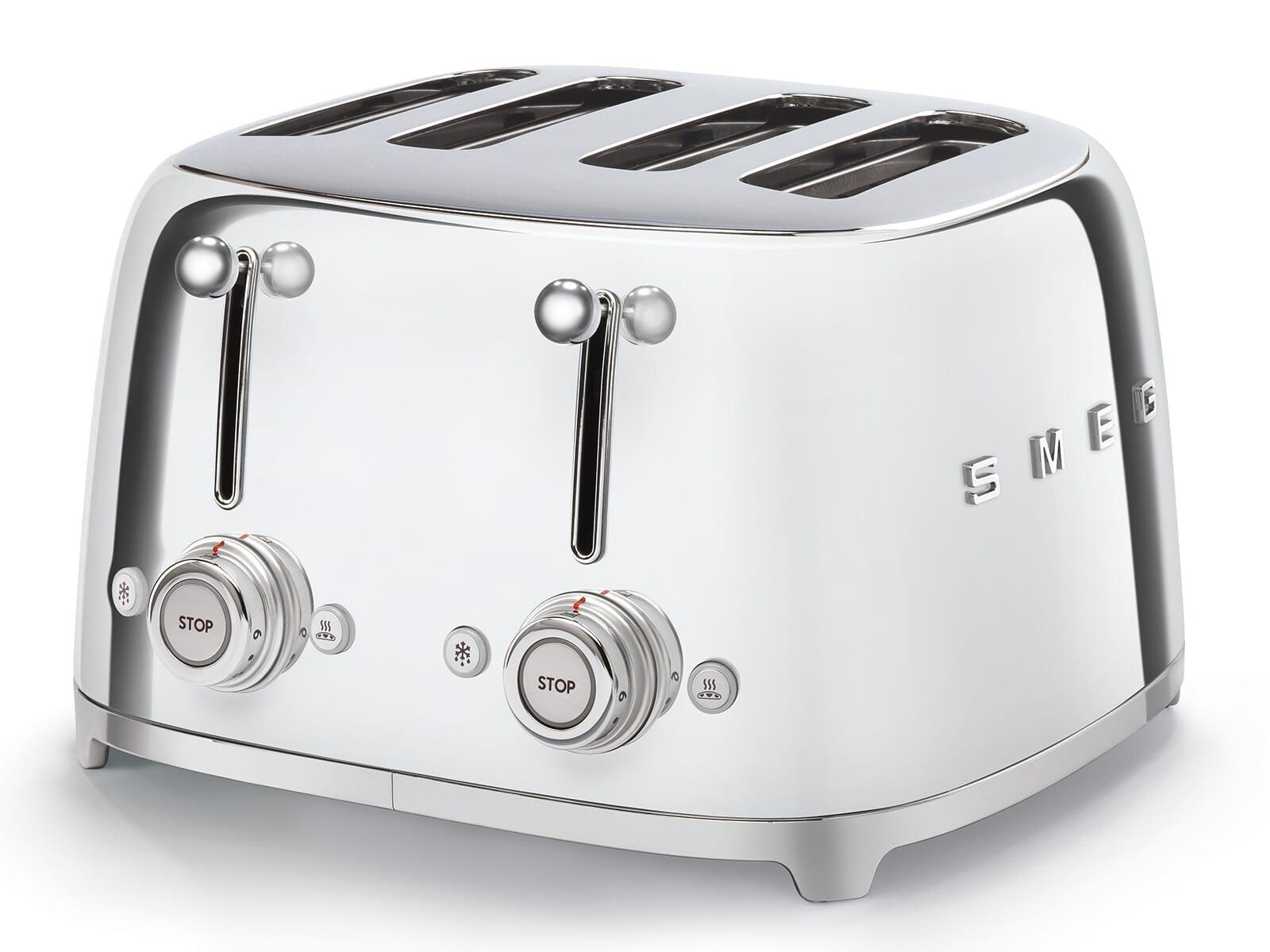 Smeg TSF03SSEU 4-Schlitz-Toaster Chrom