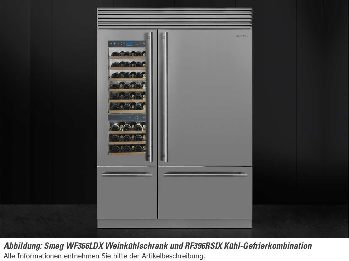 smeg side by side wein k hl gefrier kombination edelstahl. Black Bedroom Furniture Sets. Home Design Ideas