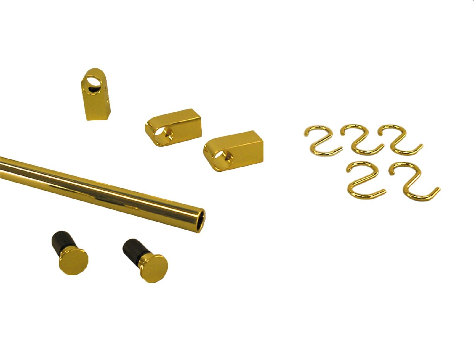 Sagemüller & Rohrer 47655 Grundset goldfarbig, Endkappe flach