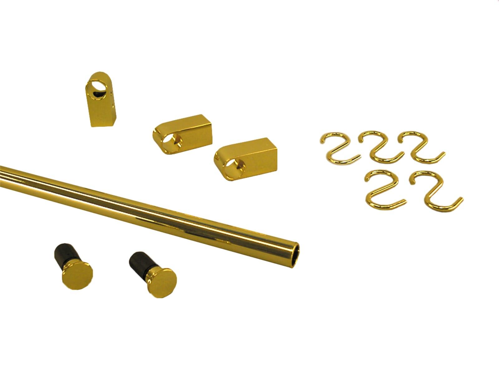 Sagemüller & Rohrer 47656 Grundset goldfarbig, Endkappe flach