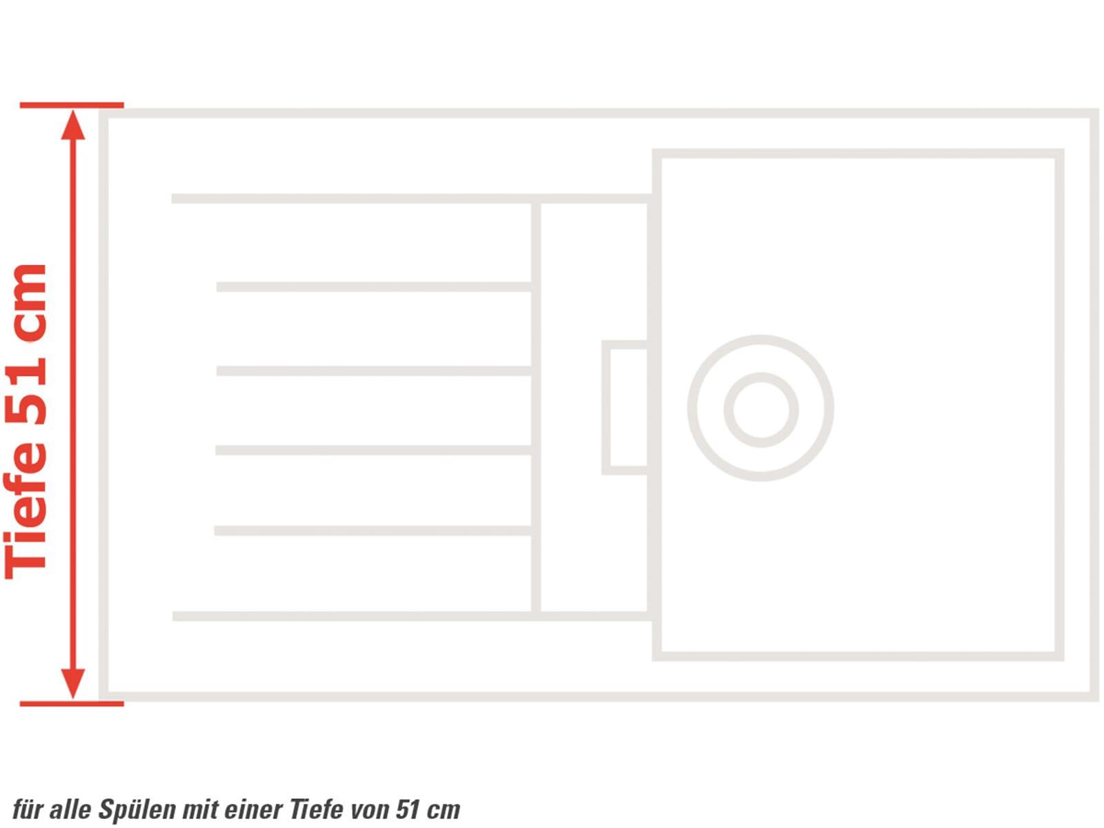 Brückenschneidebrett aus Birke für 51 cm Spülentiefe
