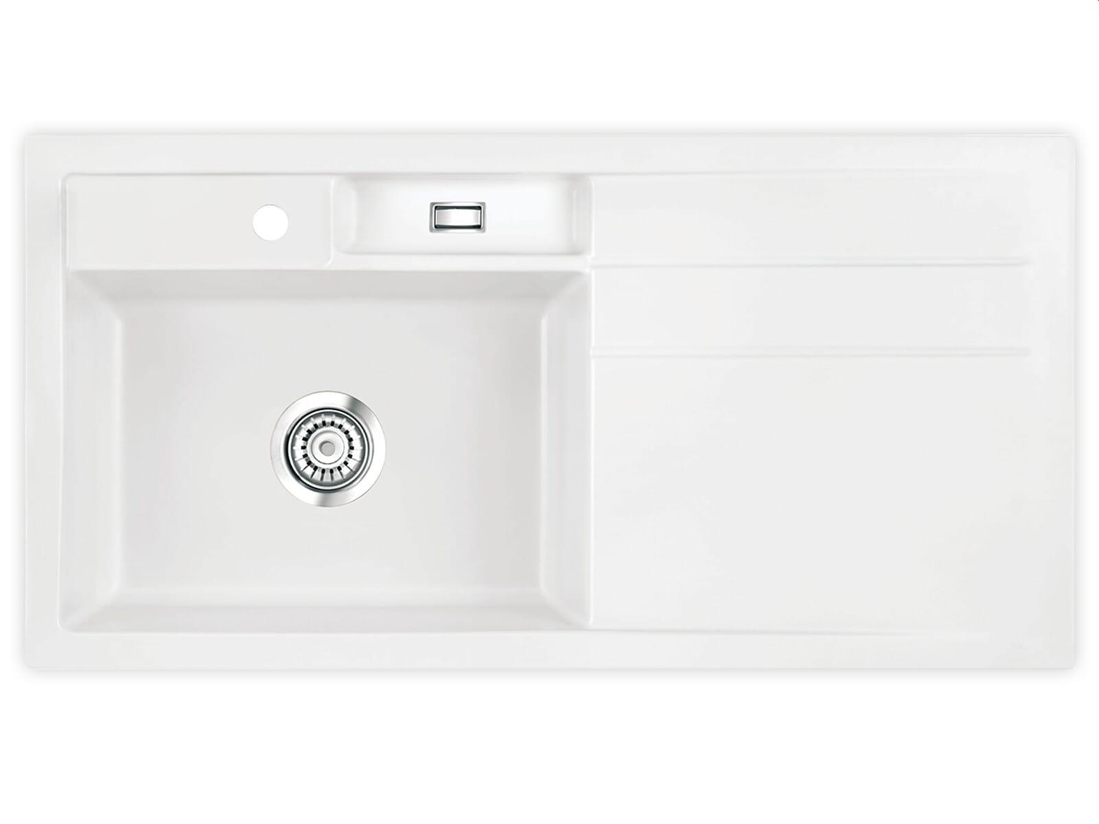 Produktabbildung Systemceram Bela 100 Polar Keramikspüle Handbetätigung