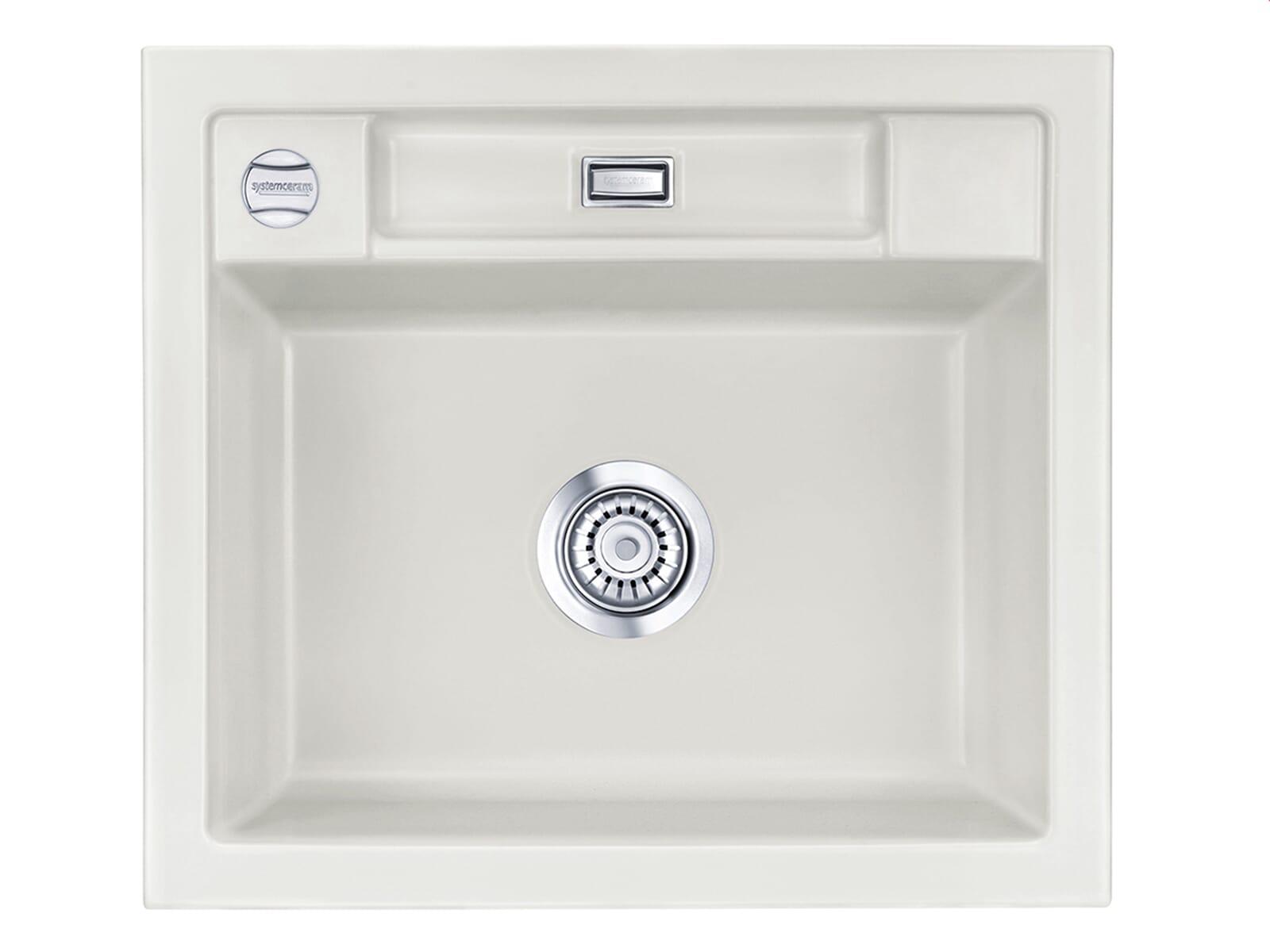 Produktabbildung Systemceram Bela 57 Alu Keramik-Spüle Excenterbetätigung