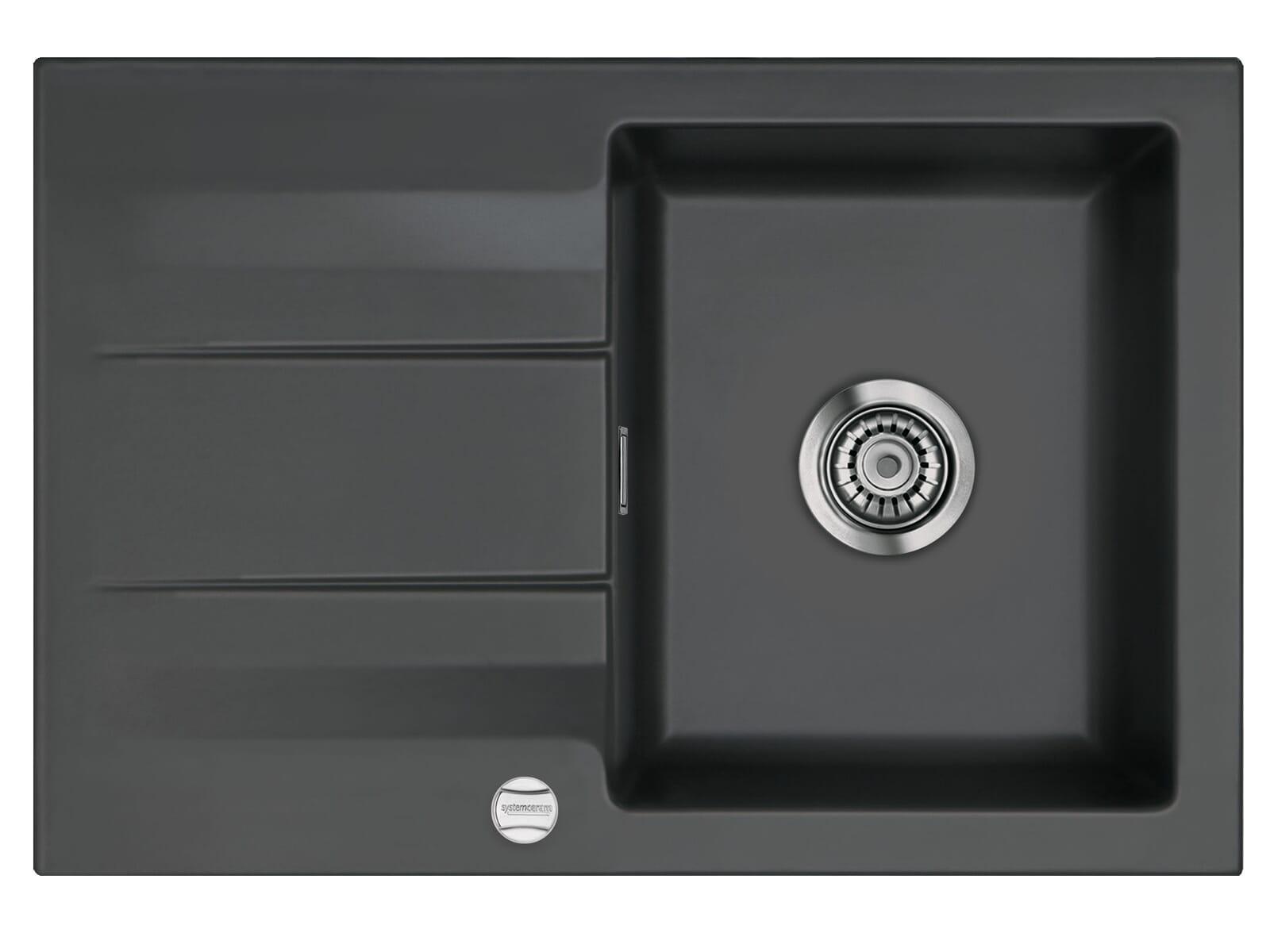 Systemceram Genea 75 Schiefer Keramikspüle Excenterbetätigung
