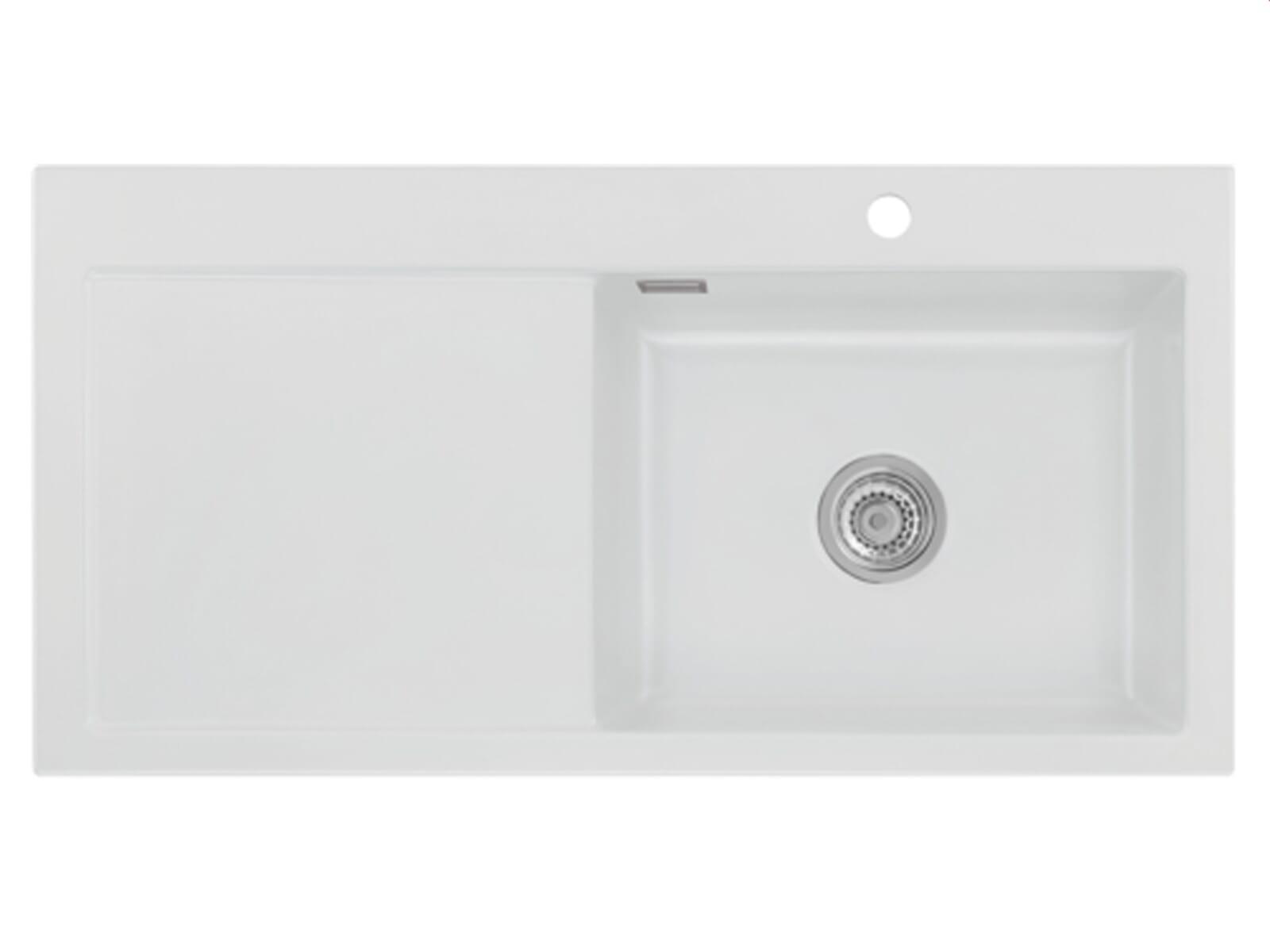 Systemceram Mera 100 SL Satin Keramikspüle Handbetätigung