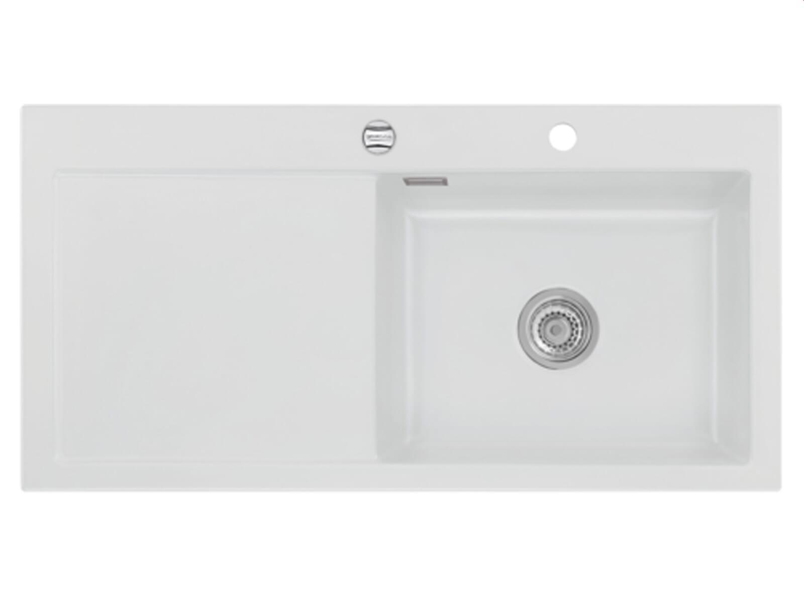 Systemceram Mera 100 SL Satin Keramikspüle Excenterbetätigung