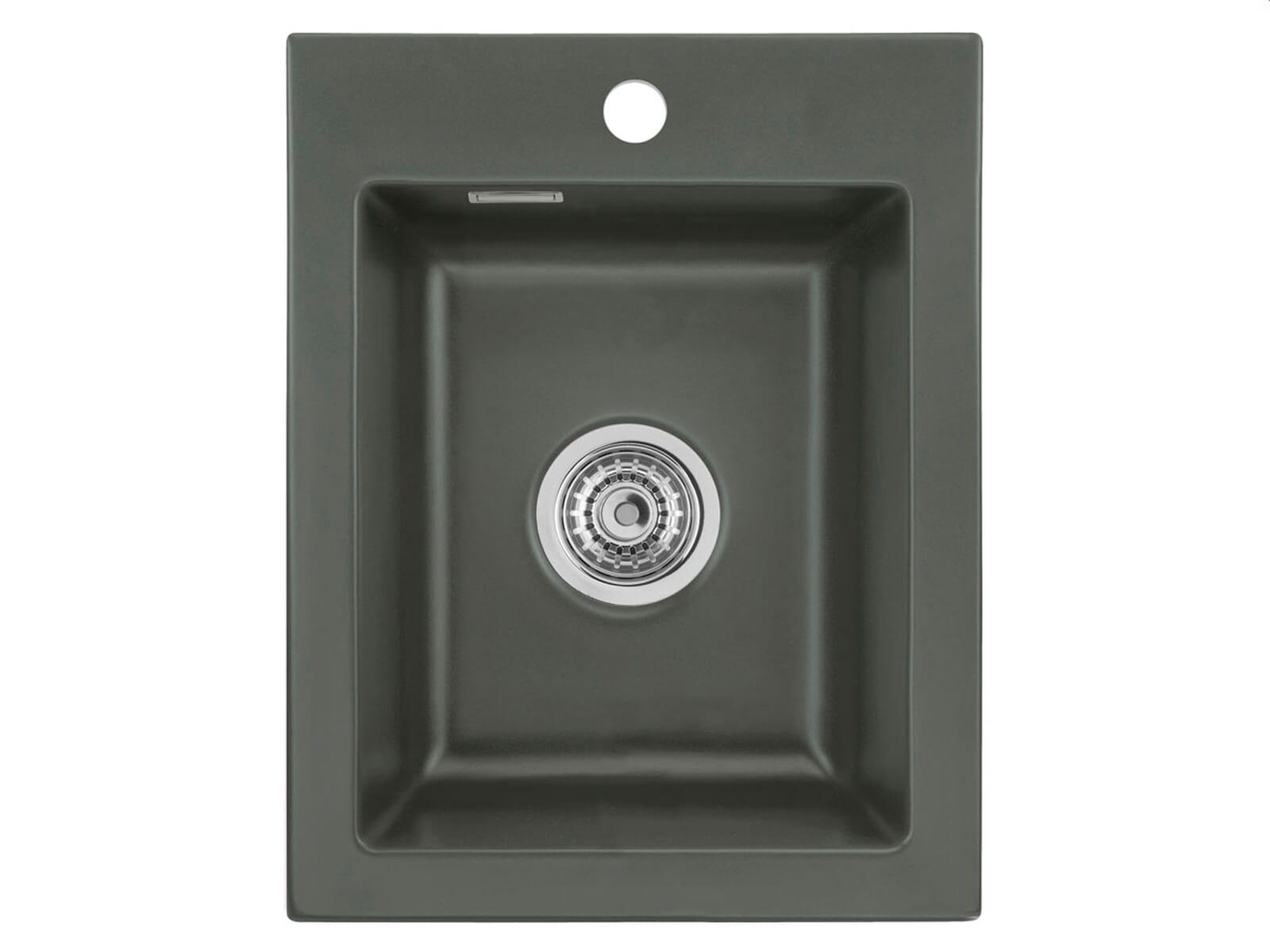 Systemceram Mera 39 Lava Keramikspüle Handbetätigung inkl. Hahnloch