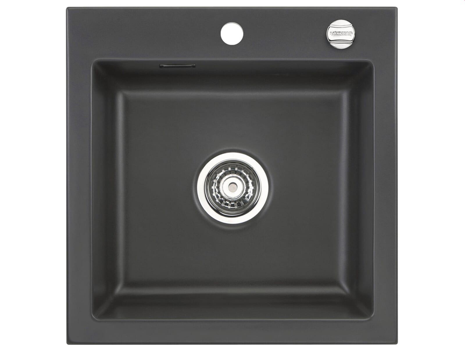Systemceram Mera 51 Schiefer Keramikspüle Excenterbetätigung