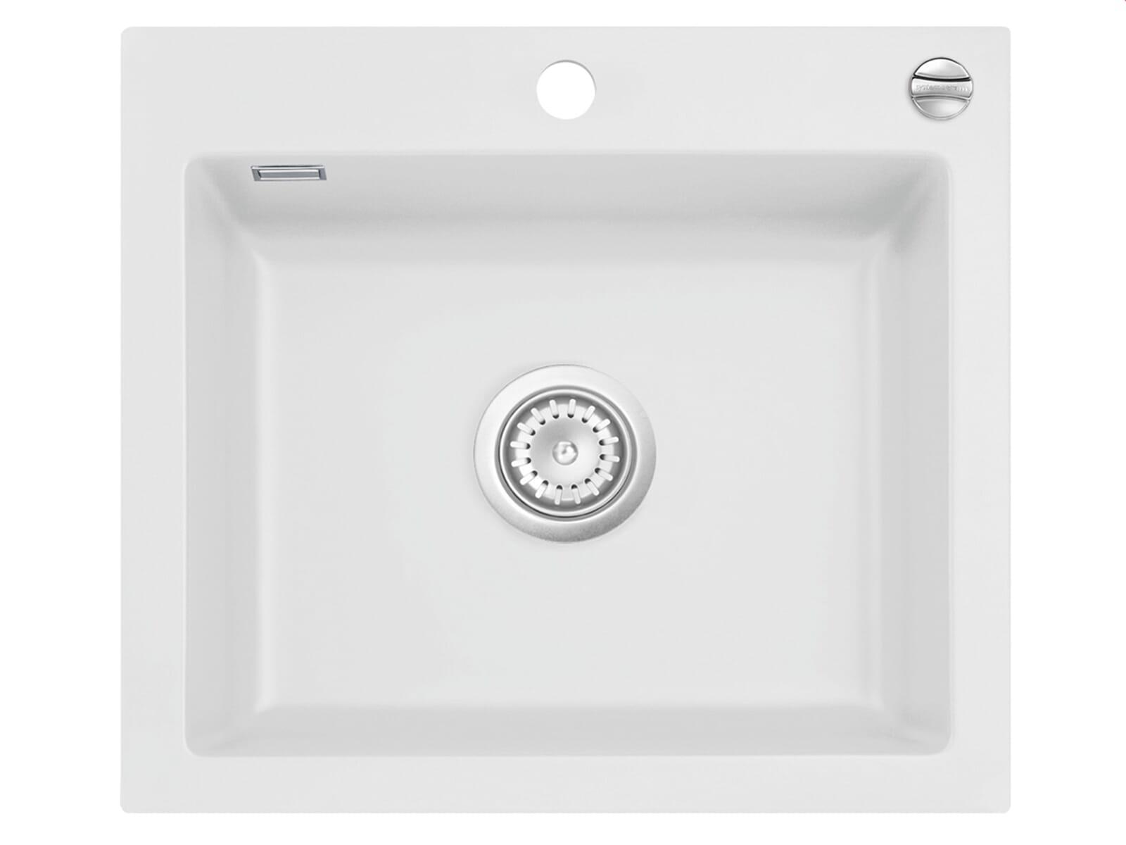 Systemceram Mera 57 Satin Keramikspüle Excenterbetätigung