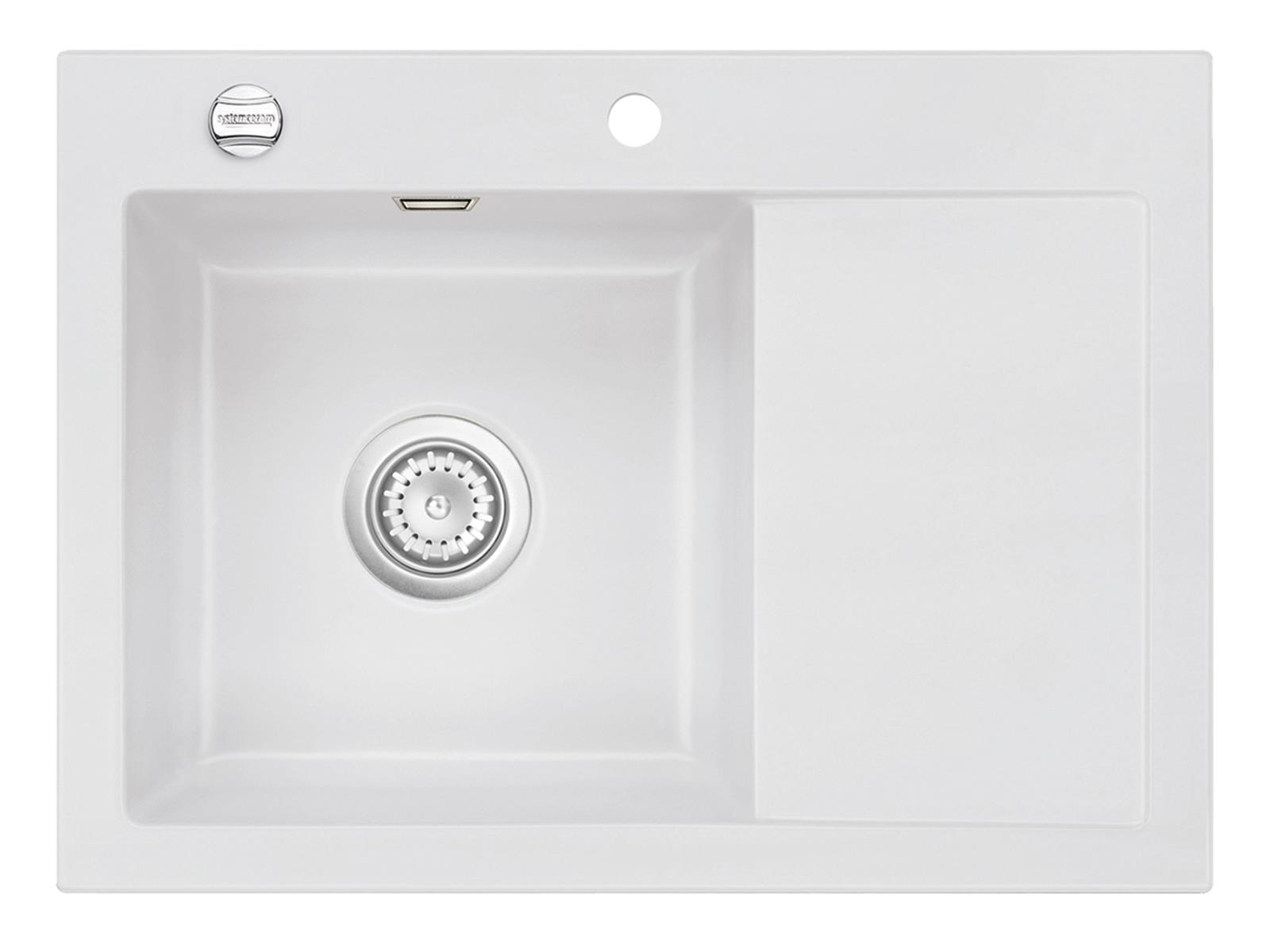 Systemceram Mera 70 Satin Keramikspüle Excenterbetätigung
