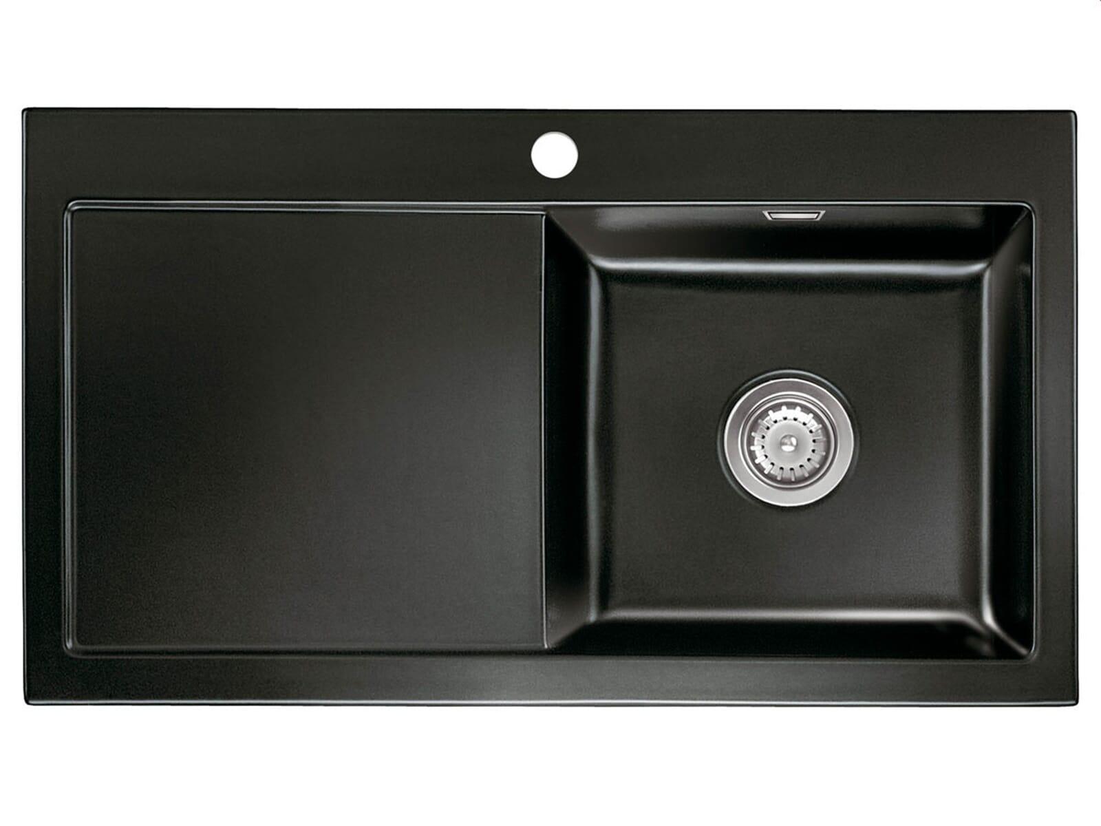 systemceram mera 90 nero keramiksp le handbet tigung. Black Bedroom Furniture Sets. Home Design Ideas