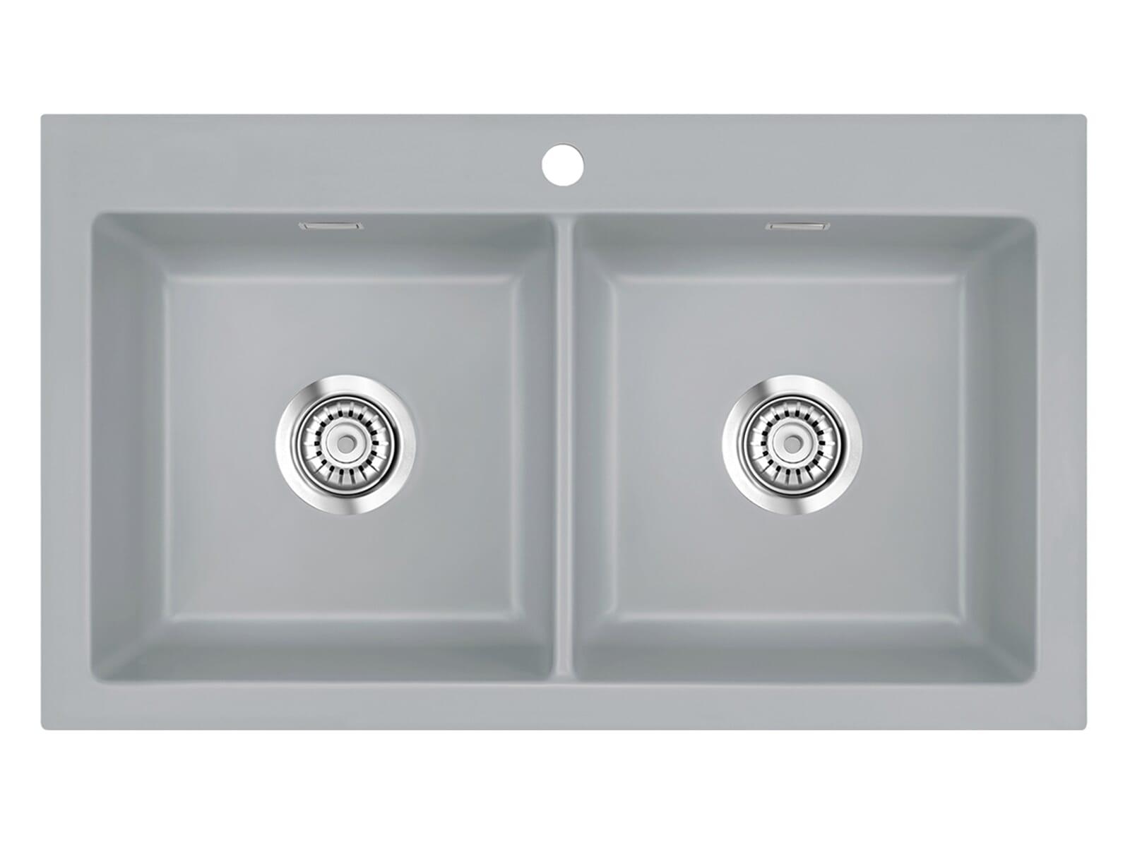Systemceram Mera Twin Titan Keramikspüle Handbetätigung