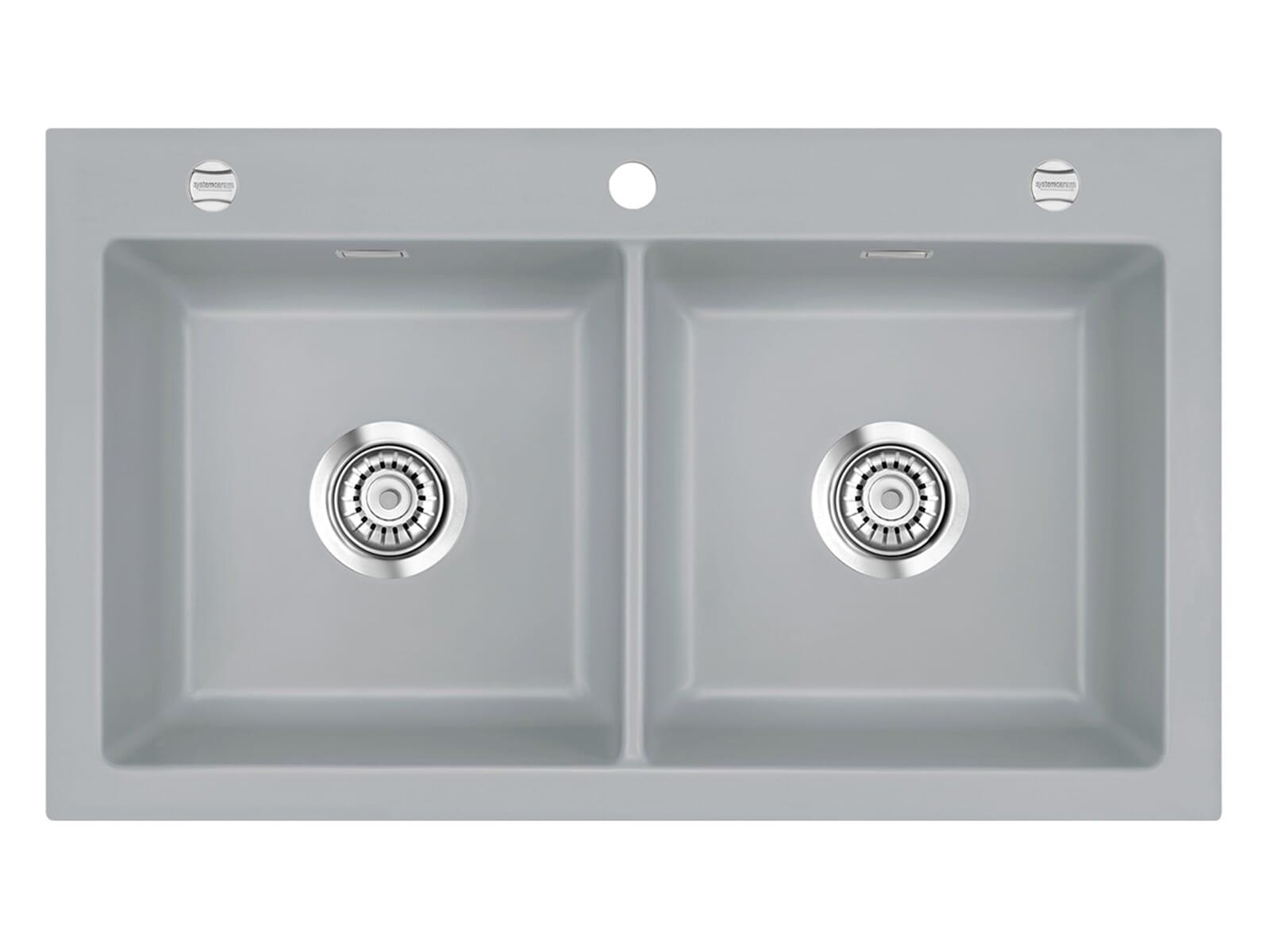 Systemceram Mera Twin Titan Keramikspüle Excenterbetätigung