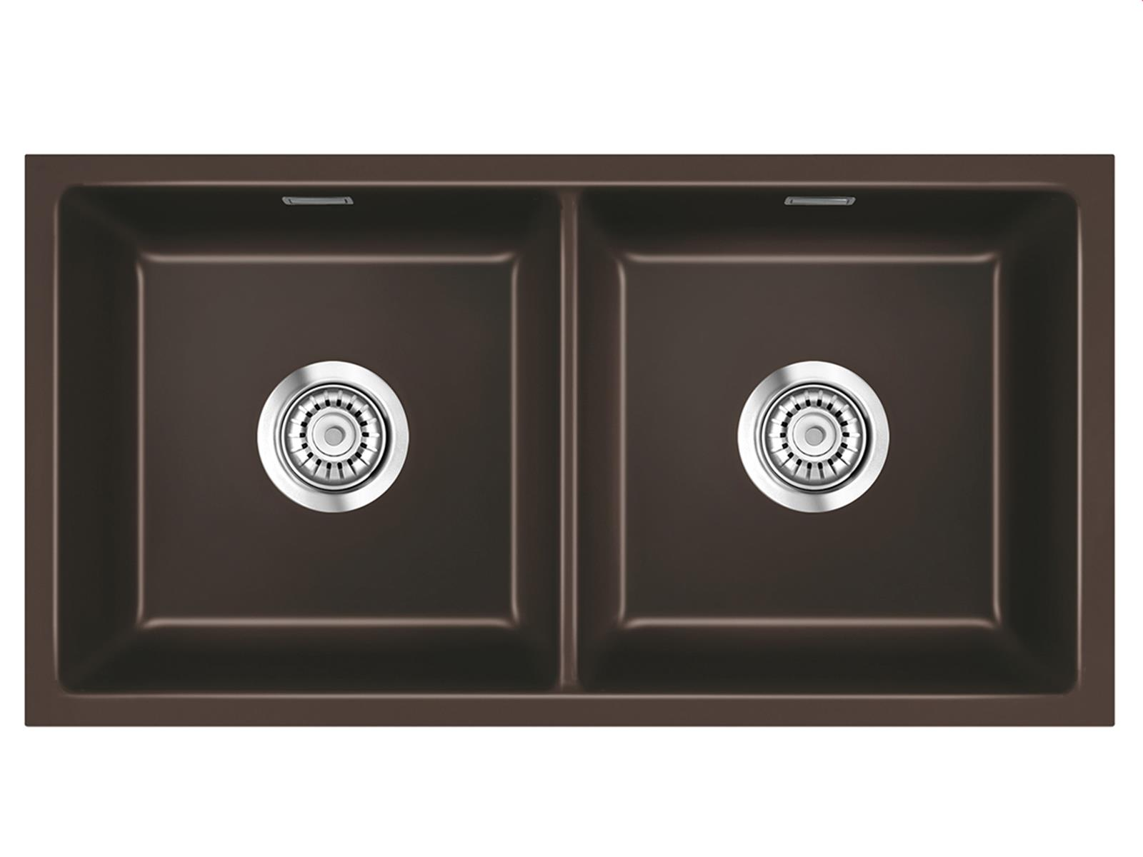 Systemceram Mera Twin U Siena Keramikspüle Excenterbetätigung