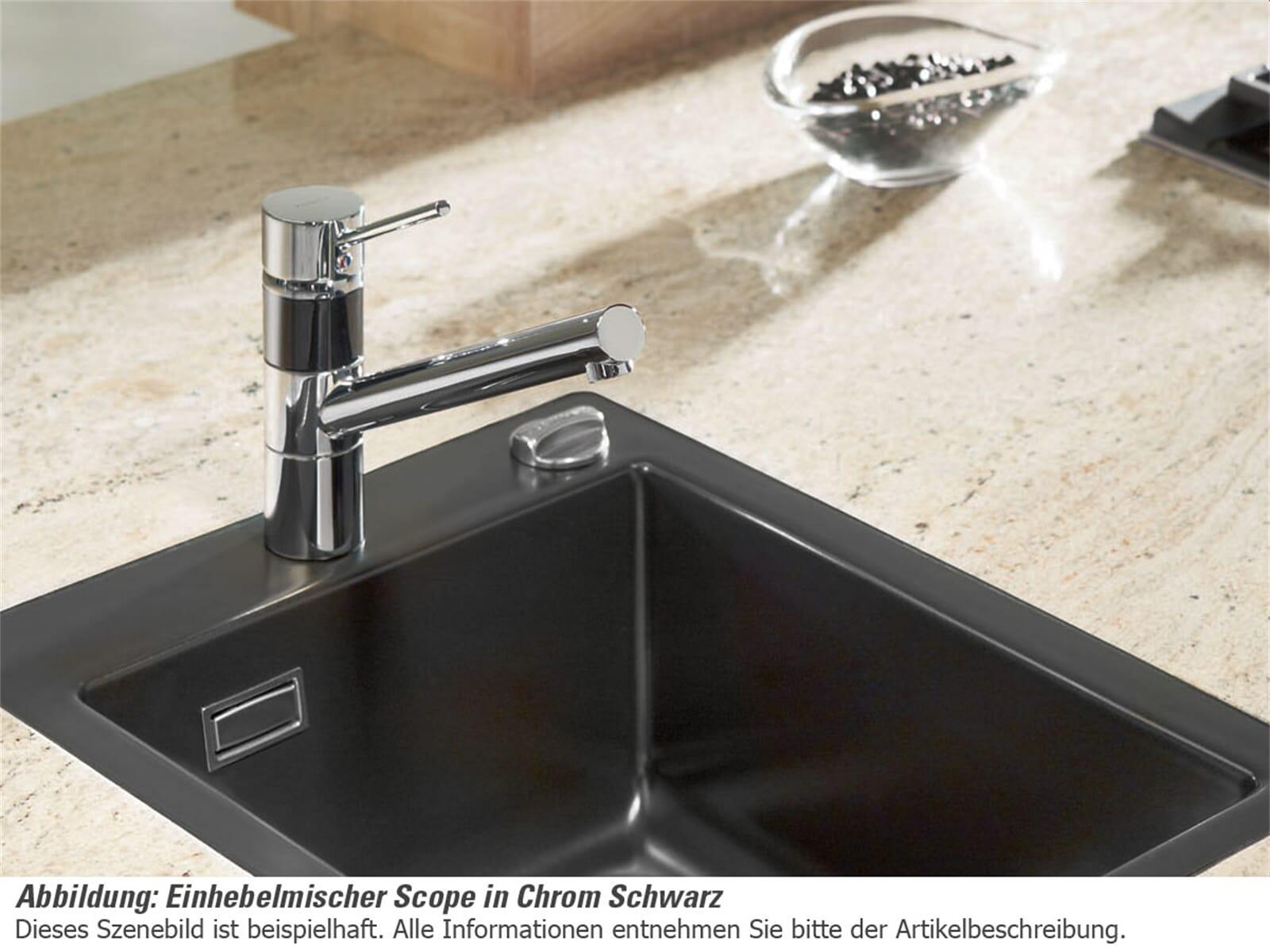 Systemceram/Kludi Scope Chrom/Weiß Hochdruckarmatur