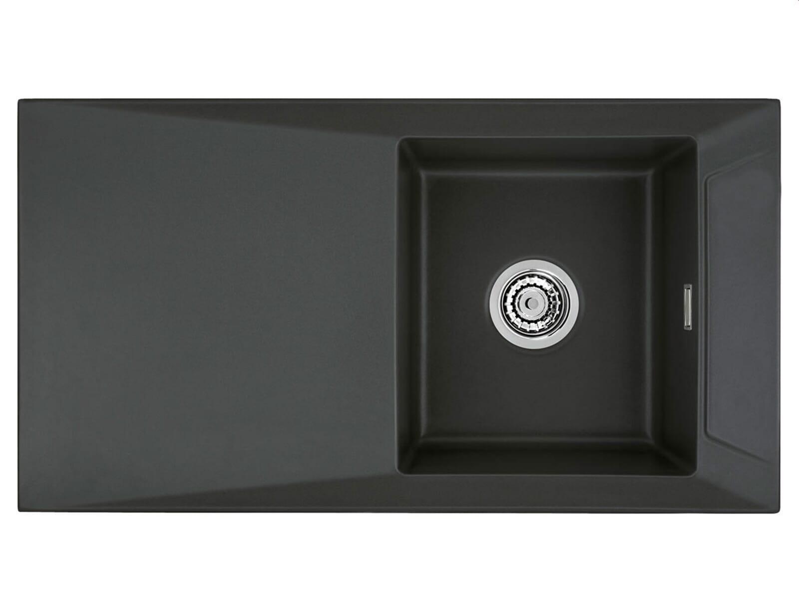 Systemceram Siro 90 Schiefer Keramikspüle Excenterbetätigung