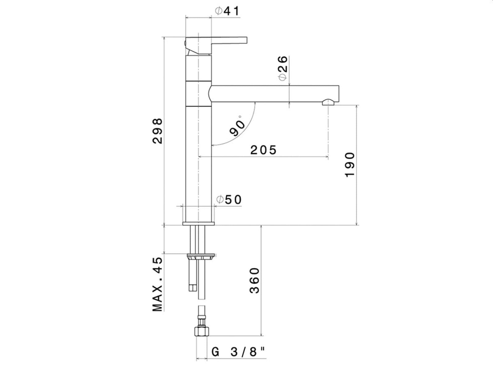 Systemceram Snella Chrom/Weiß Hochdruckarmatur