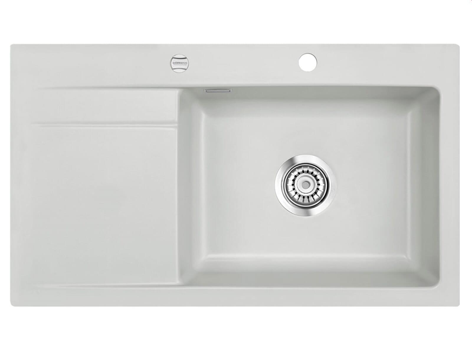 Systemceram Stema 86 SL Alu Keramikspüle Excenterbetätigung