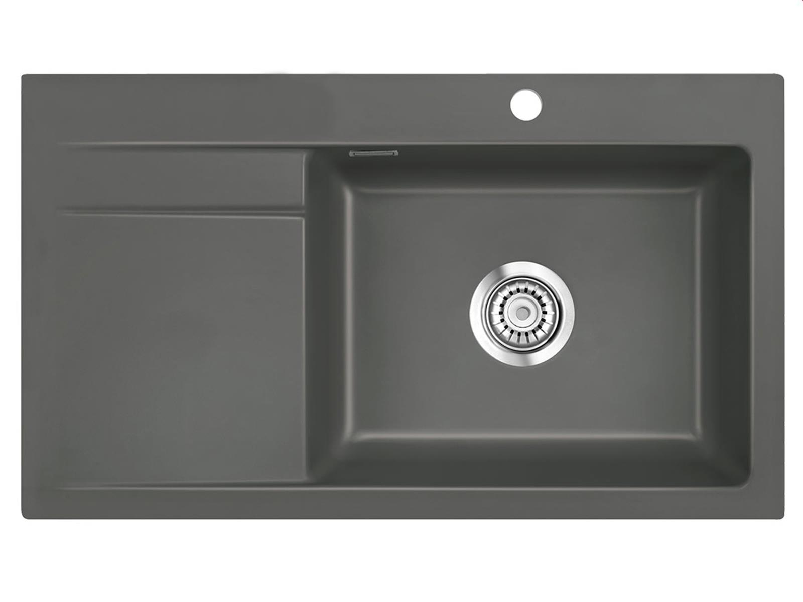 Systemceram Stema 86 SL Lava Keramikspüle Handbetätigung