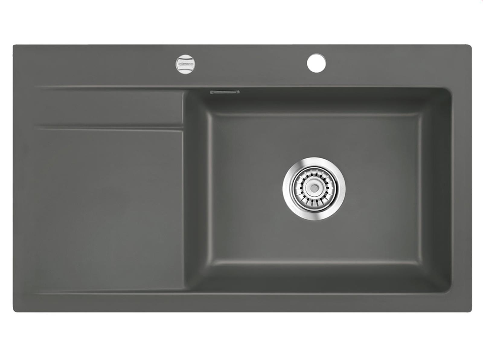 Systemceram Stema 86 SL Lava Keramikspüle Excenterbetätigung