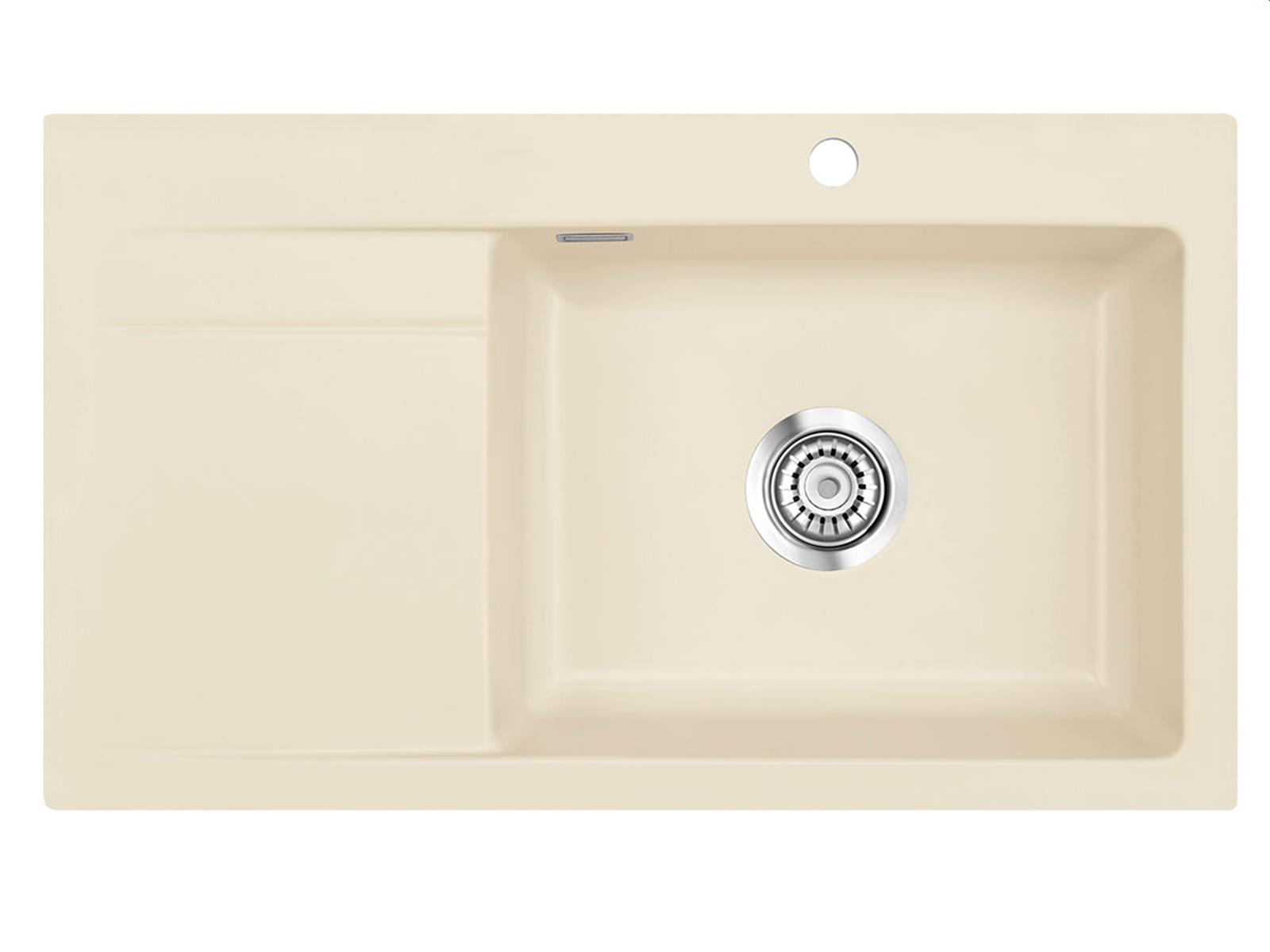 Systemceram Stema 86 SL Noblesse Keramikspüle Handbetätigung