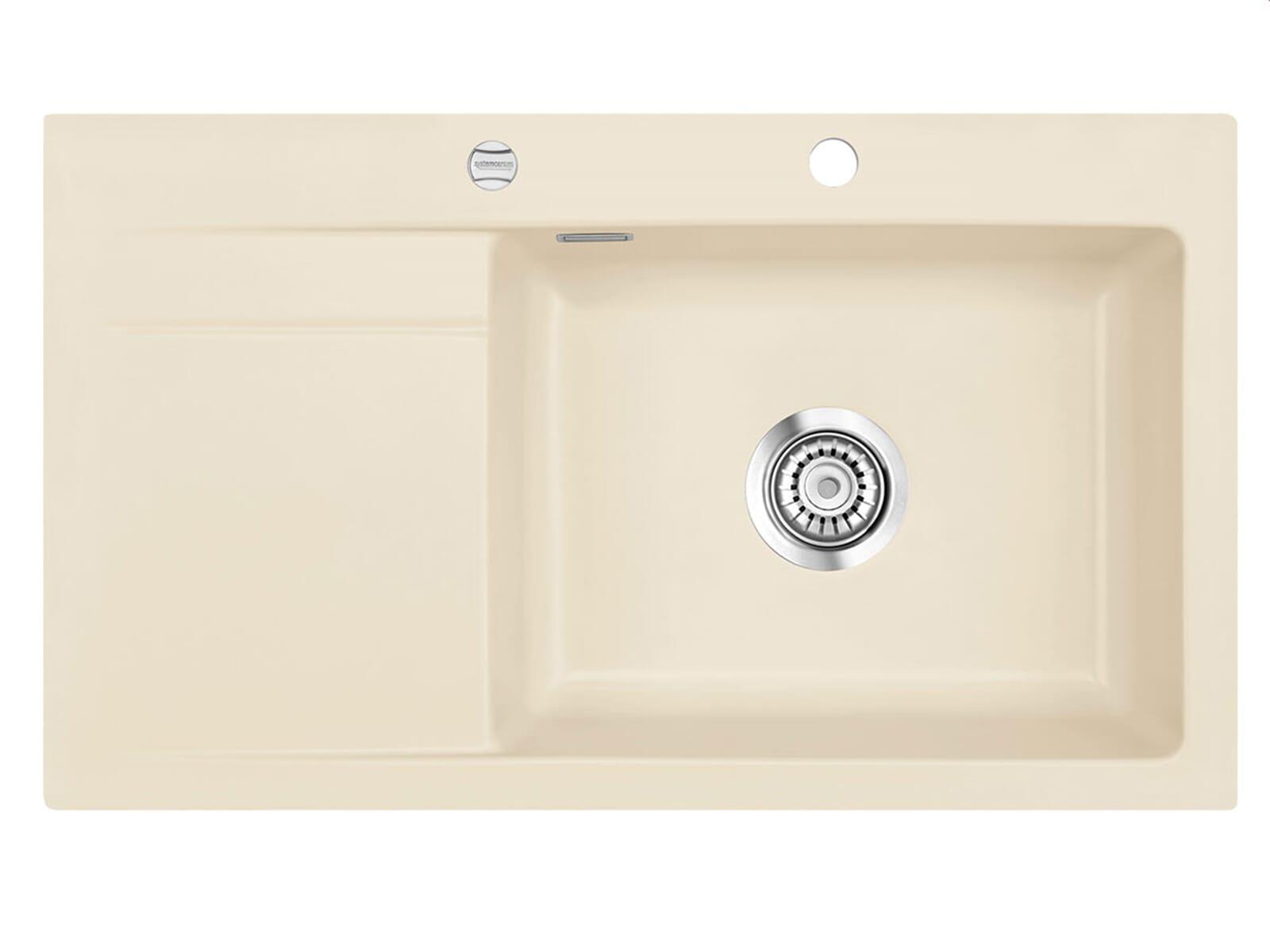 Systemceram Stema 86 SL Noblesse Keramikspüle Excenterbetätigung