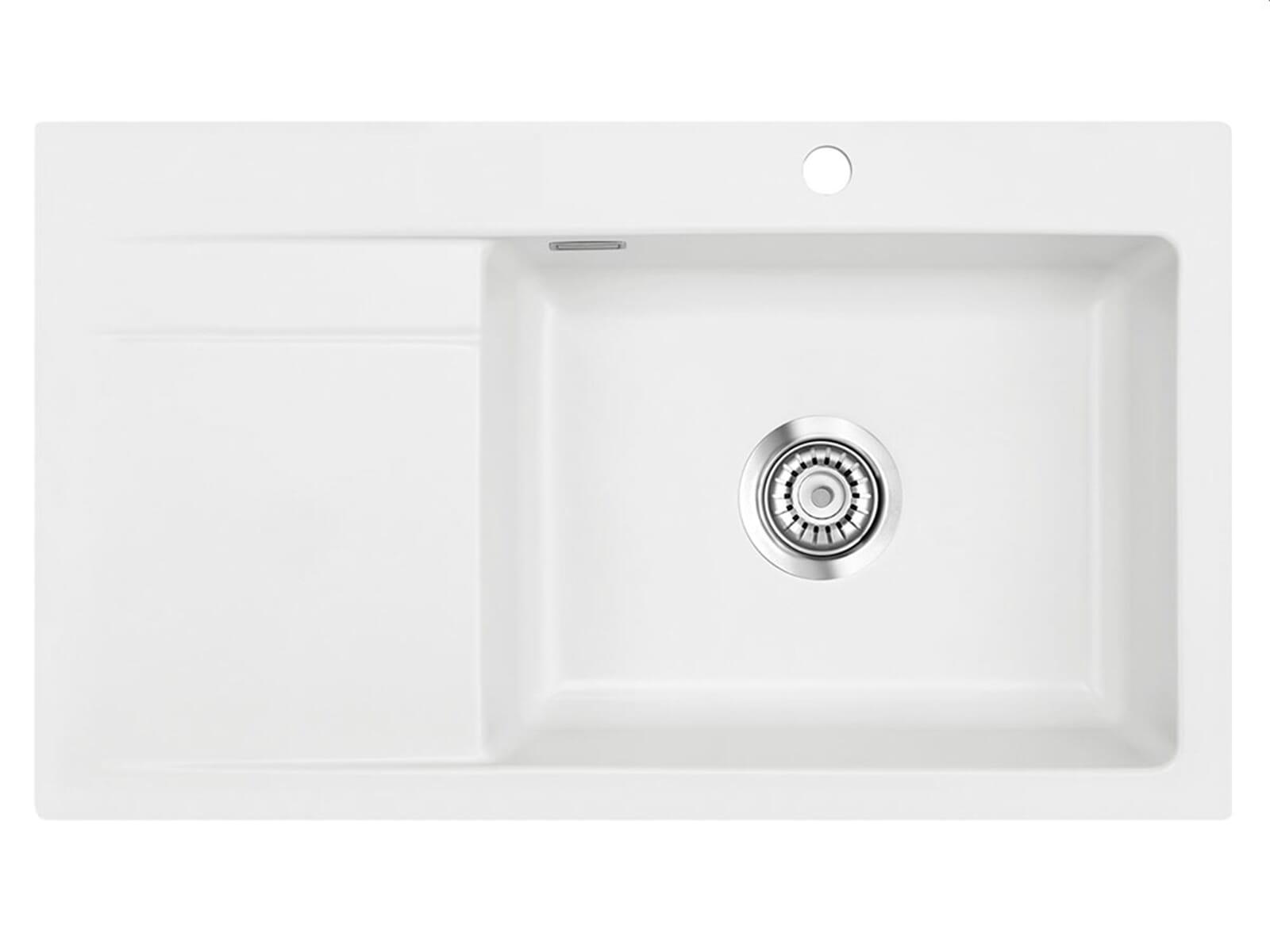 Systemceram Stema 86 SL Polar Keramikspüle Handbetätigung