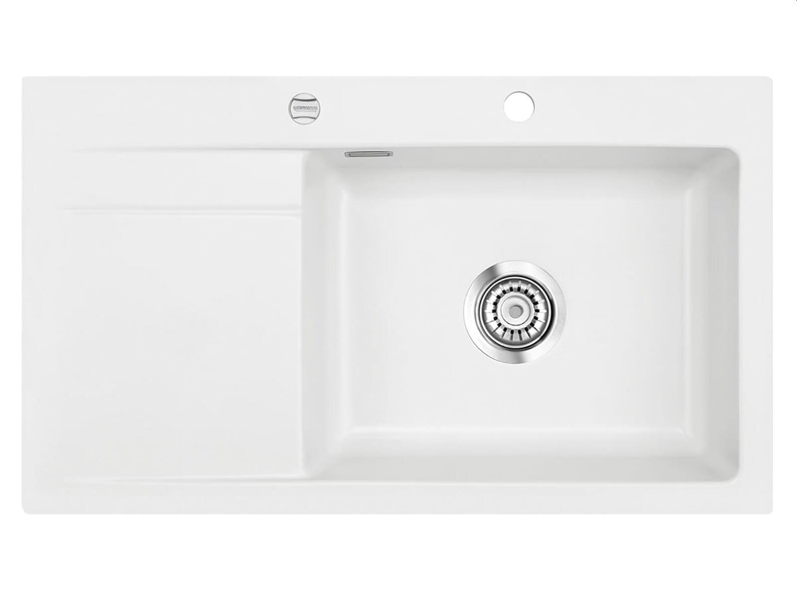 Systemceram Stema 86 SL Polar Keramikspüle Excenterbetätigung