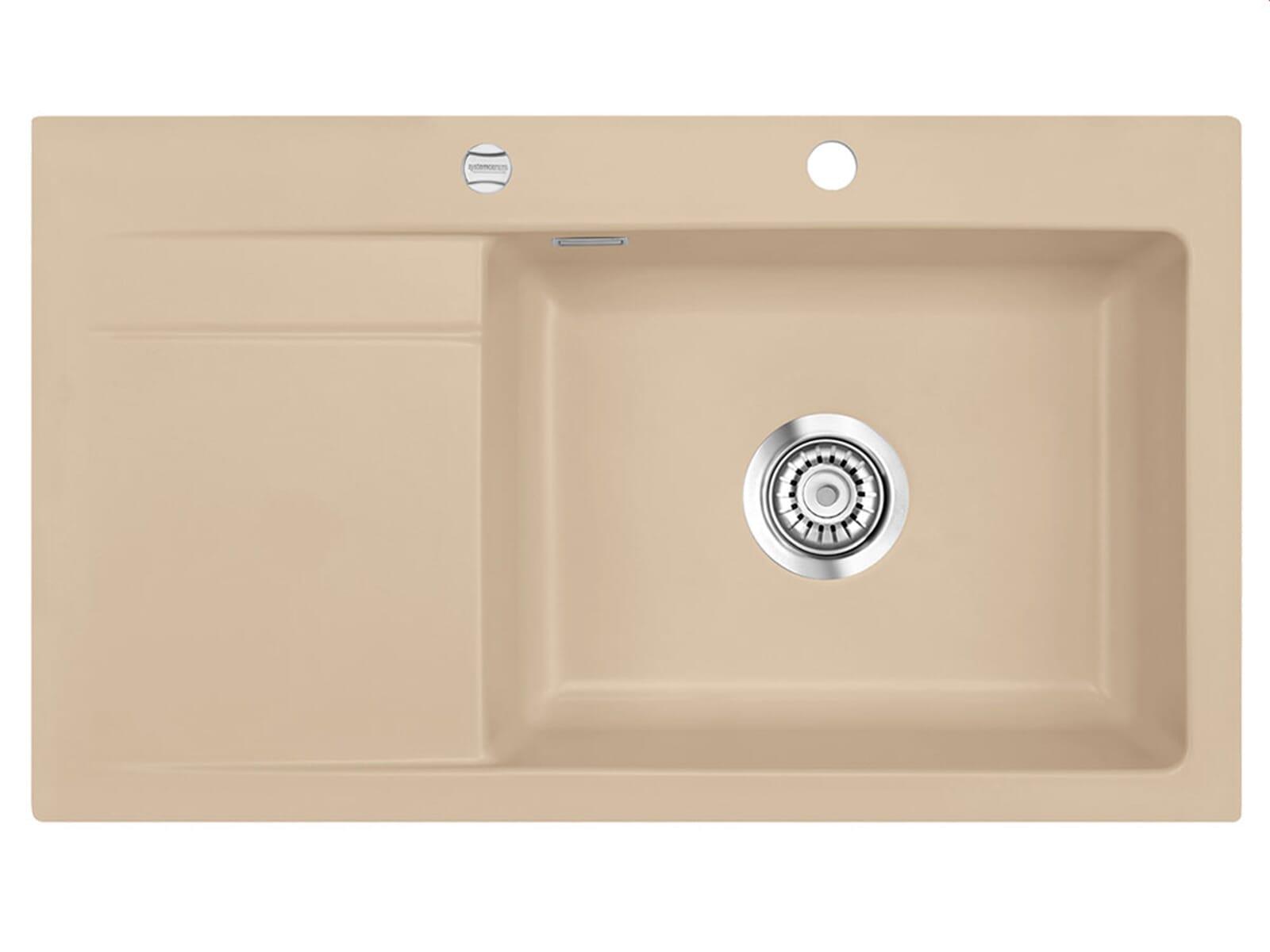 Systemceram Stema 86 SL Sand Keramikspüle Excenterbetätigung