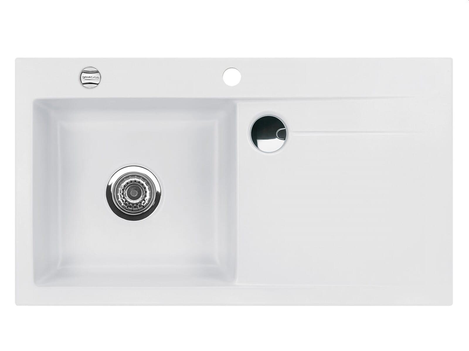 Systemceram Stema 90 Satin Keramikspüle Excenterbetätigung