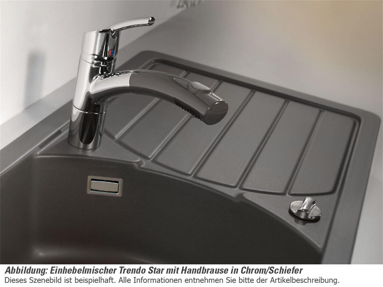 Systemceram Trendo Star Chrom/Weiß Hochdruckarmatur