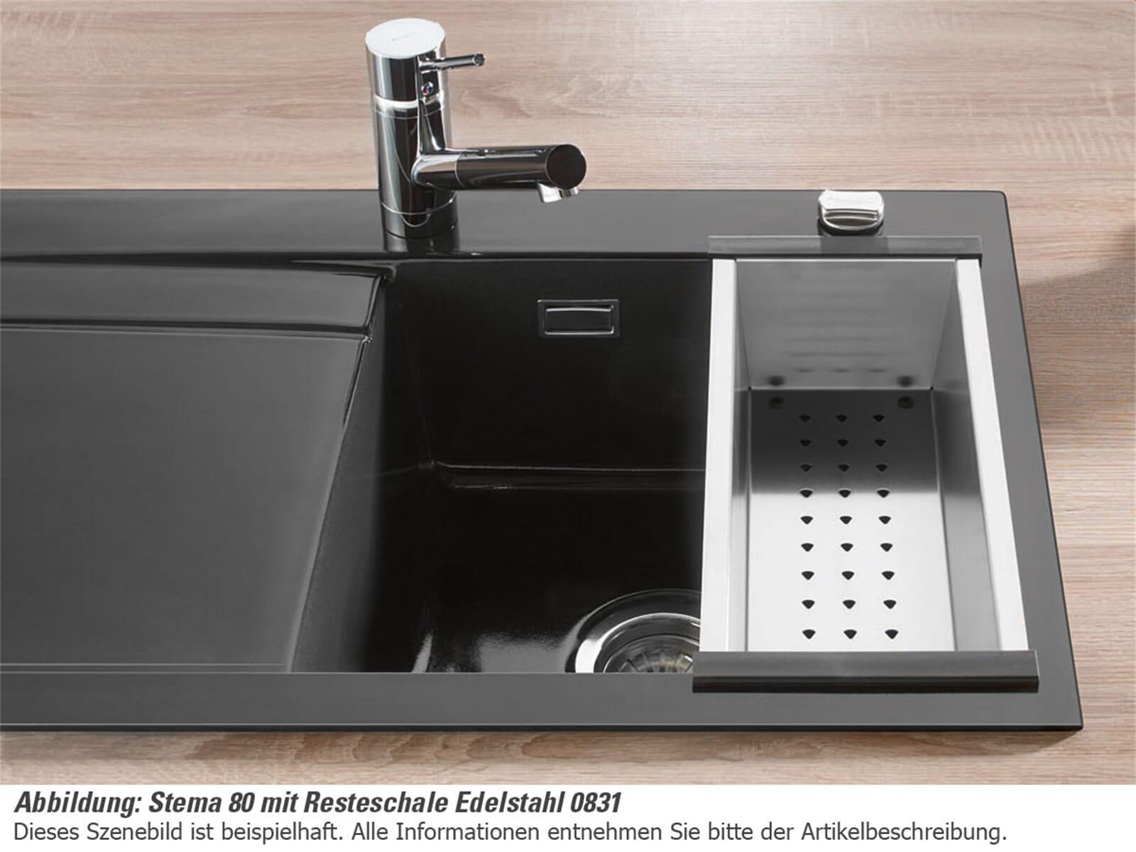 Systemceram Resteschale Edelstahl 0831