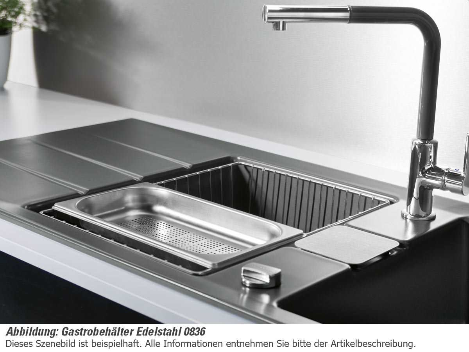 Systemceram Gastrobehälter Edelstahl 0836