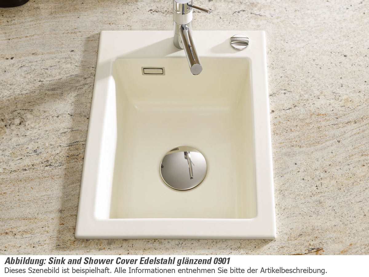 Systemceram Sink and Shower Cover glänzend 0901