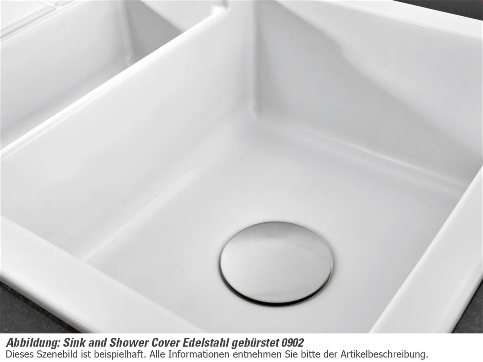 Systemceram Sink and Shower Cover gebürstet 0902