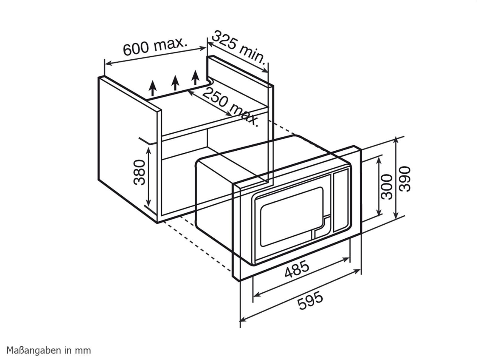 Teka MWL 20 BI Einbau-Mikrowelle mit Grill Edelstahl