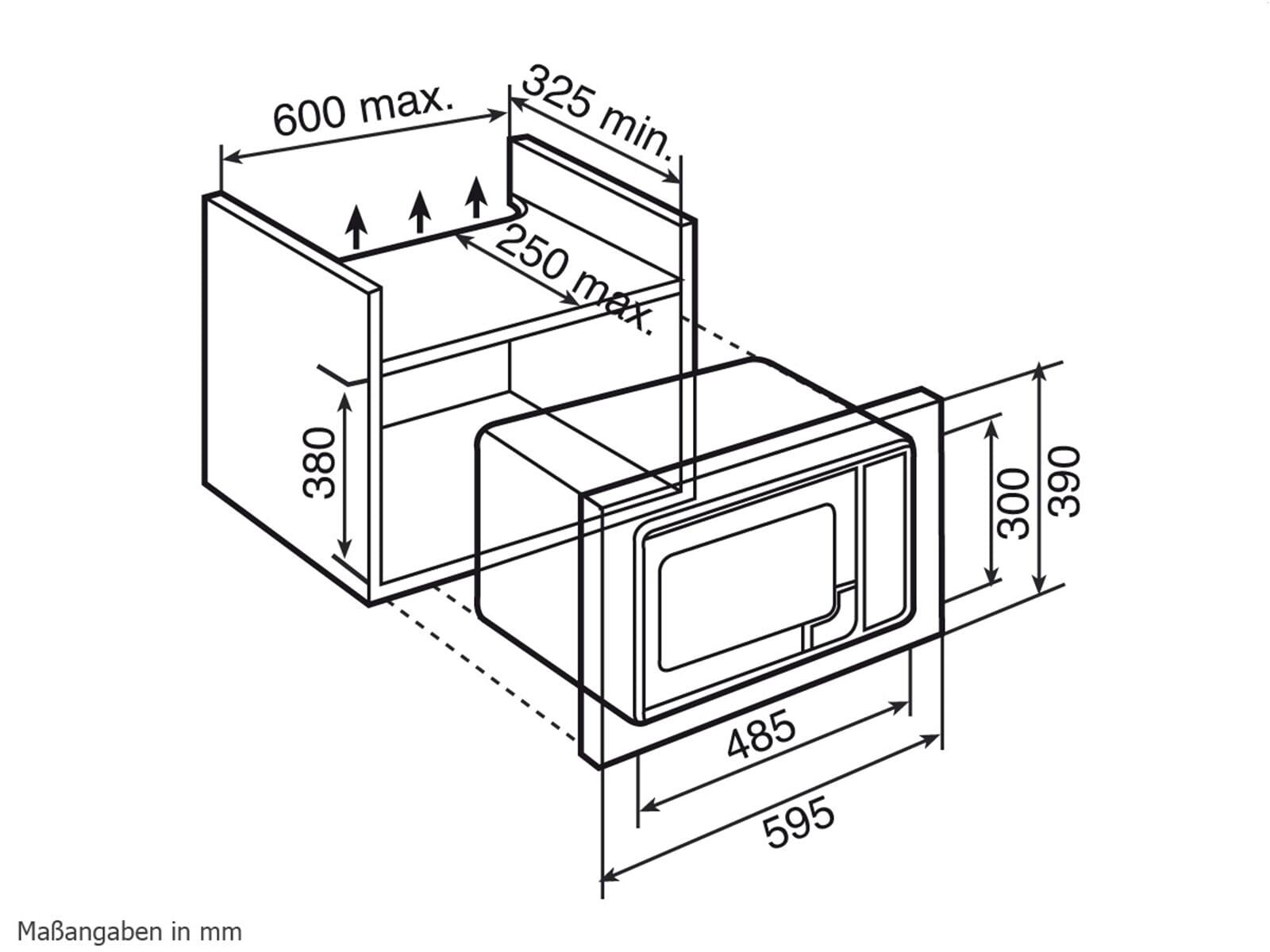Teka MWL 20 BIS Einbau-Mikrowelle mit Grill Edelstahl
