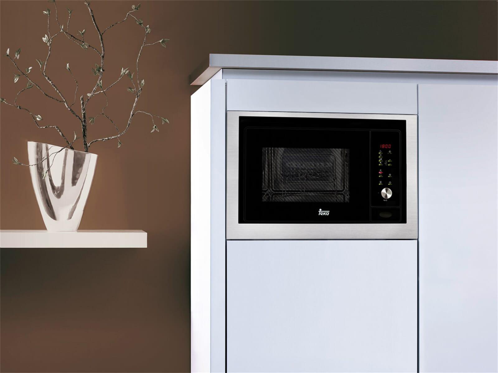 teka mwl 20 bis einbau mikrowelle mit grill edelstahl. Black Bedroom Furniture Sets. Home Design Ideas
