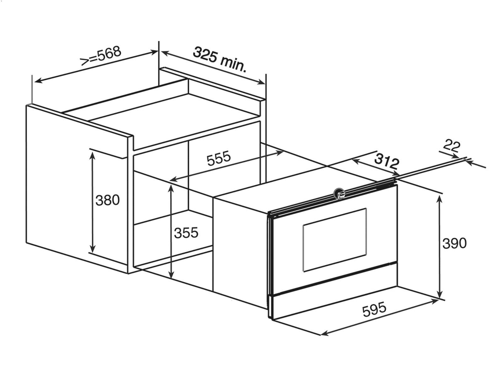 Teka MWS 22 BI Einbau-Mikrowelle Edelstahl