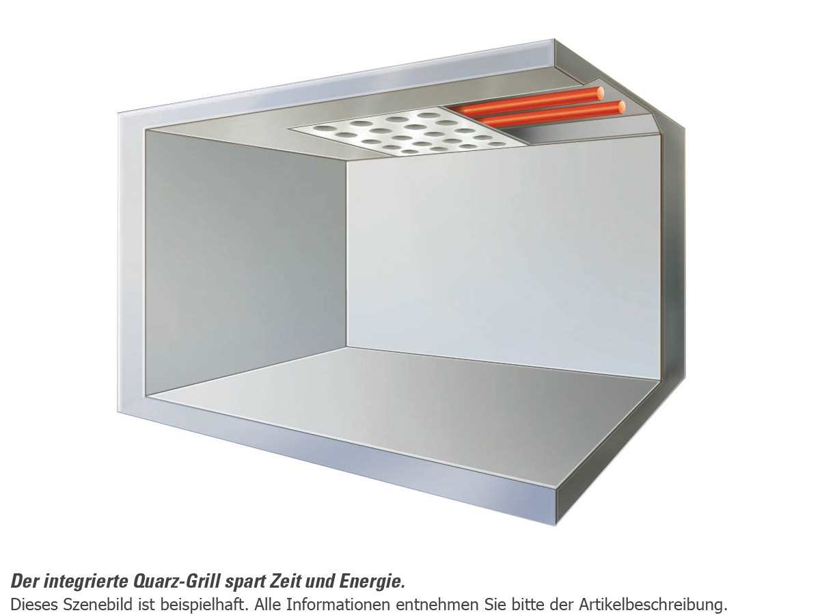 Teka MWS 22 EGR Einbau-Mikrowelle mit Grill Edelstahl