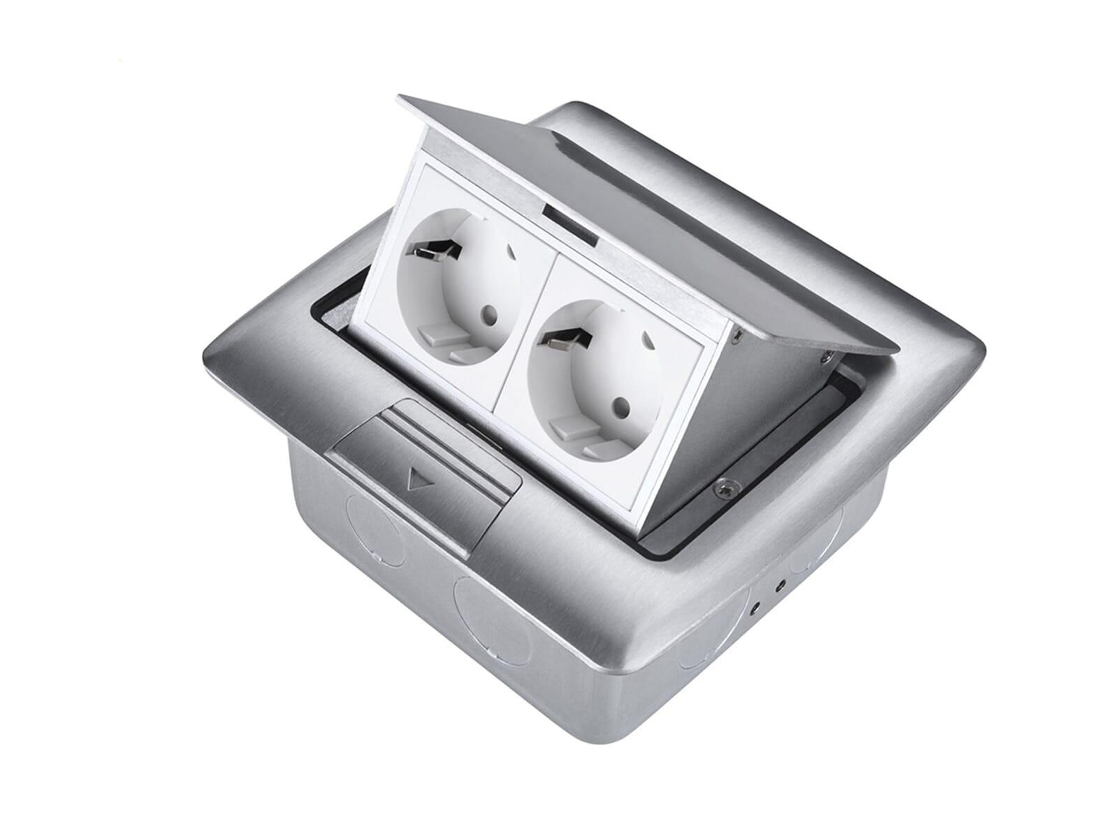 Thebo APS 13 - 17136S Tischsteckdose Aluminium