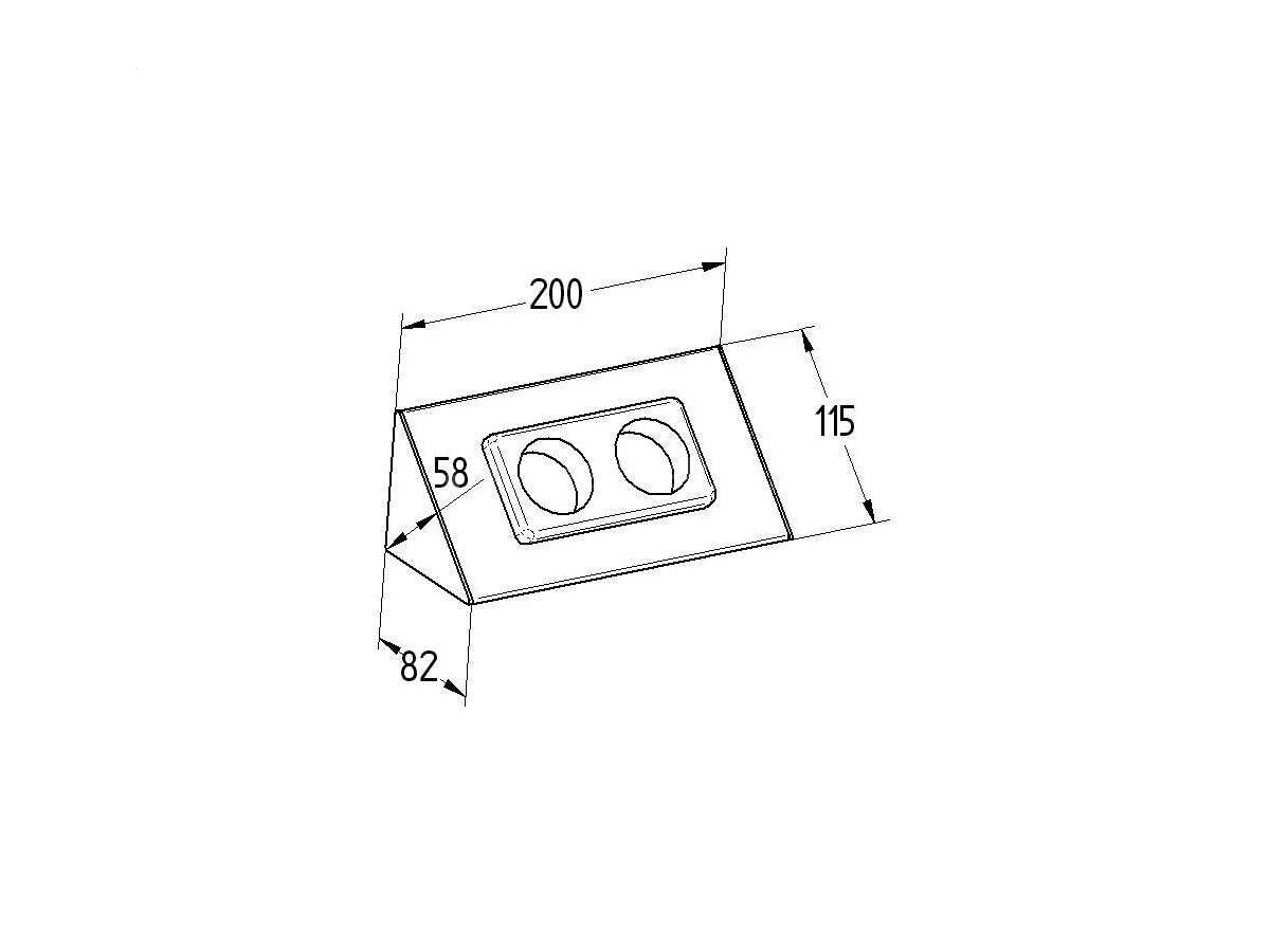 Thebo E 3900/ST2 - 17907 Steckdosenelement Aluminium