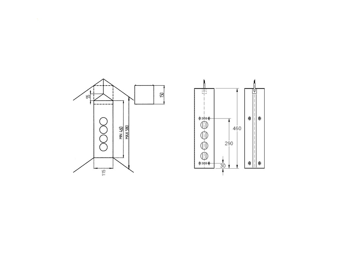Thebo ST 3007 - 17587 Steckdosenelement Aluminium