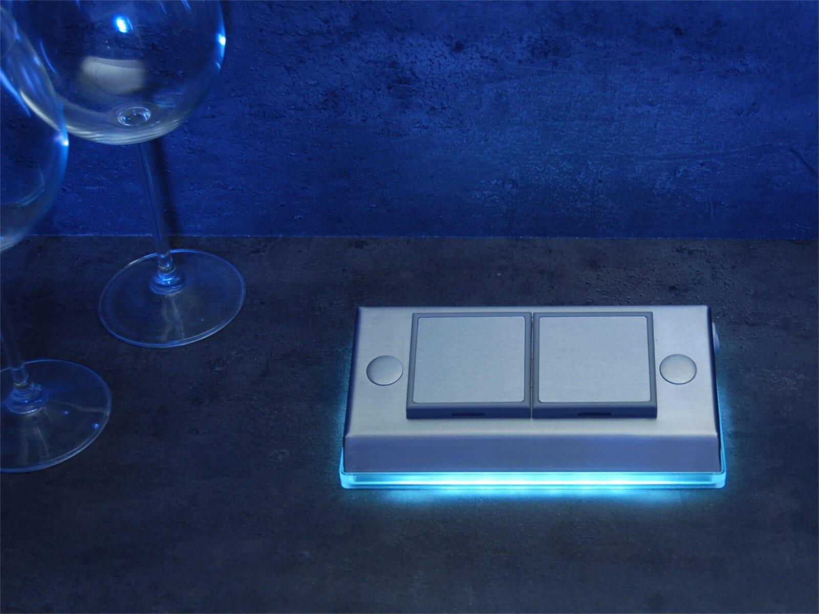 Thebo ST 3010 ST/2 LED Nesto - 175016.8 Steckdosenelement Edelstahl
