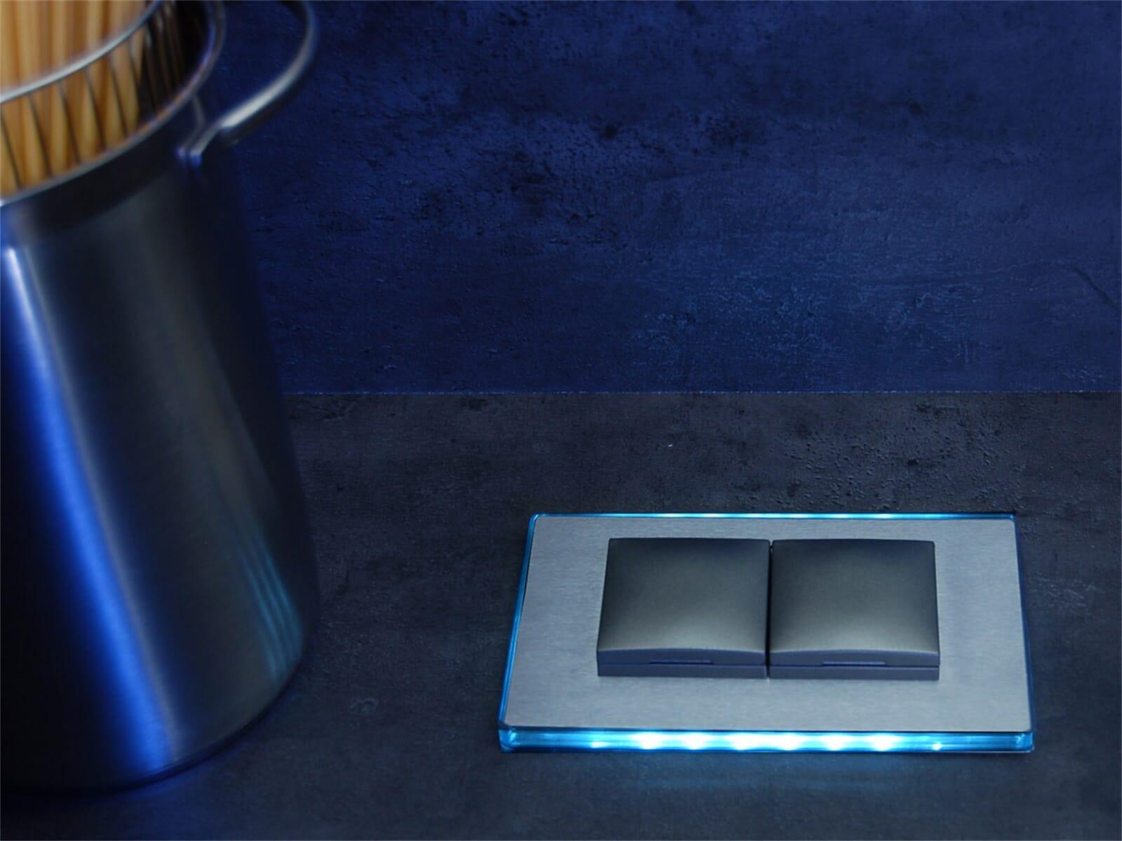 Thebo ST 3020 ST/2 LED Pirro - 175026 LED Steckdosenelement Edelstahl