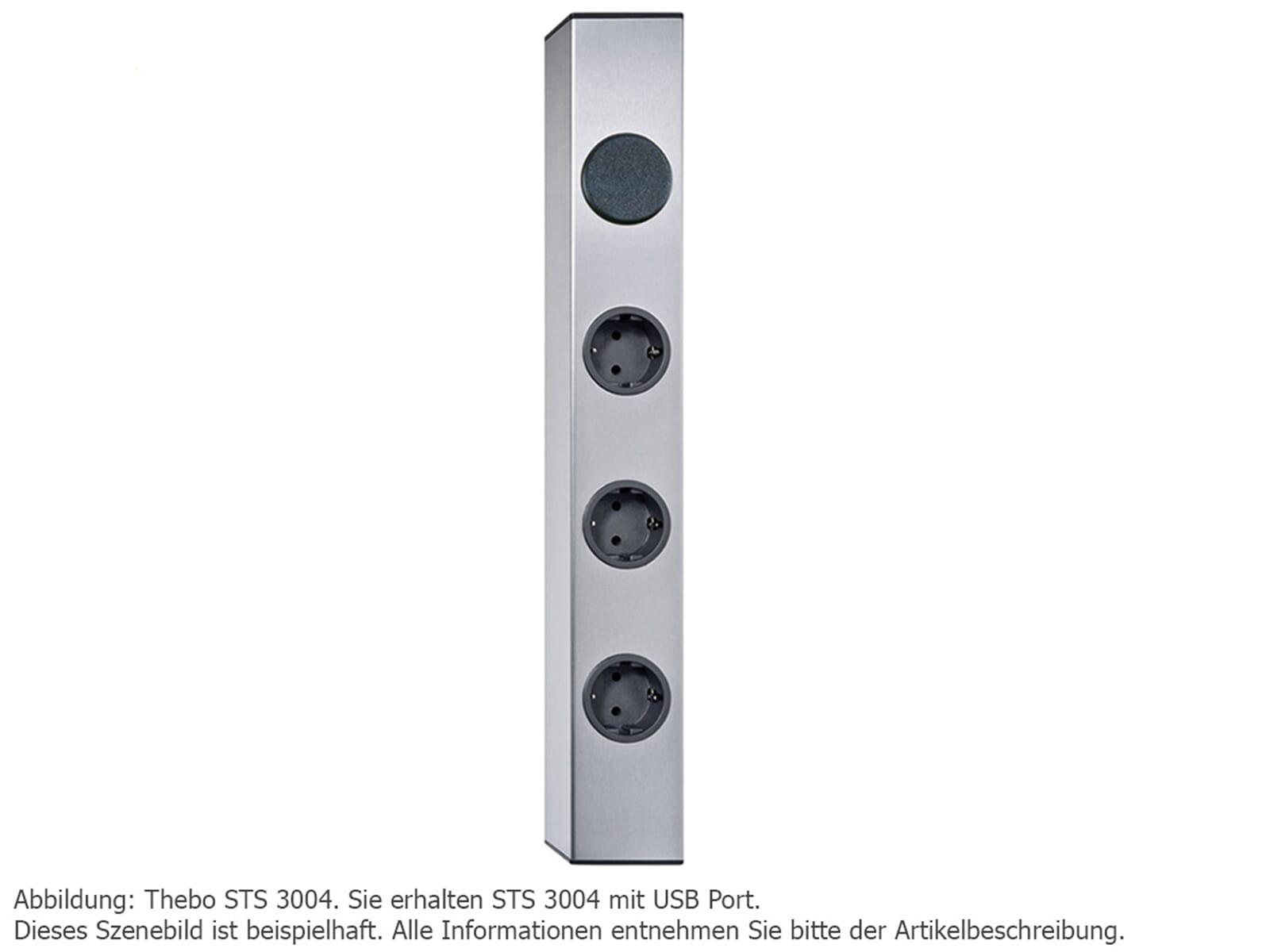 Thebo STS 3004 + USB Port - 1749406 Steckdosenelement Edelstahl